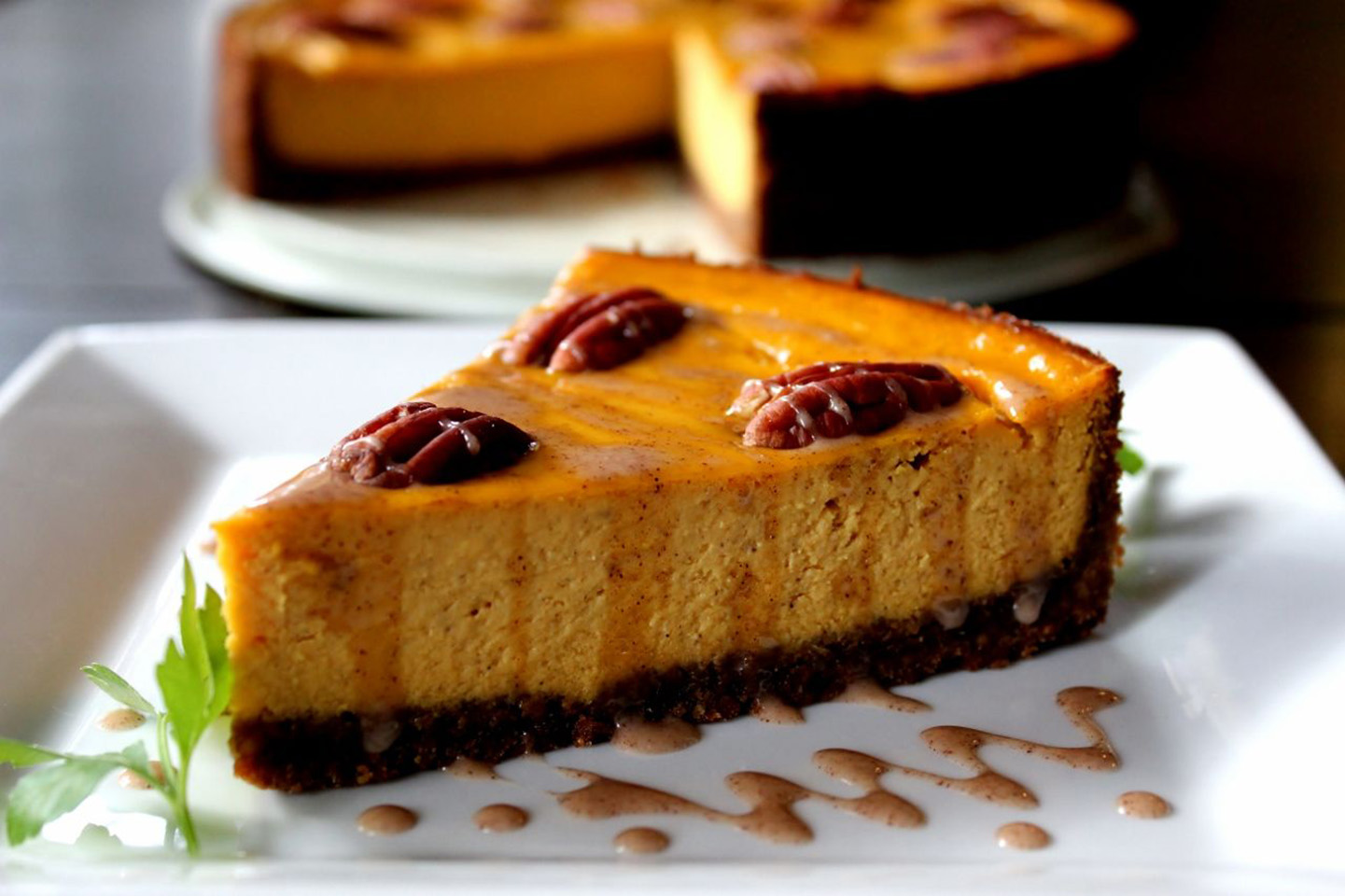 Carrot Cheesecake with Crumb Crust Suzanne Stull