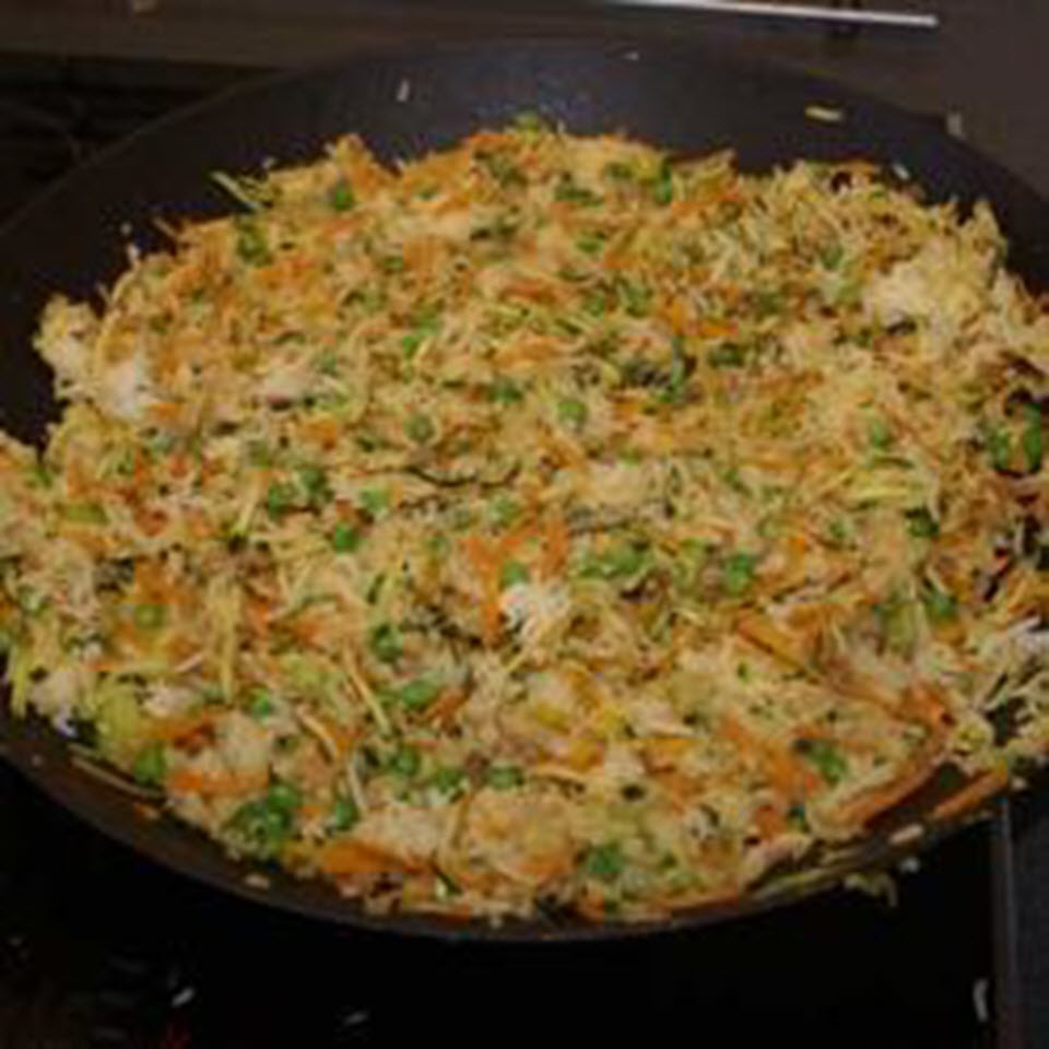 Fried Rice with Vegetables and Peas