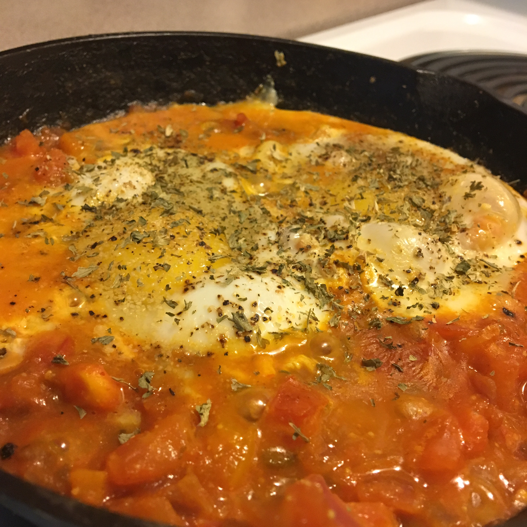 Eggs in Purgatory (Shakshuka) Leah Woodward Wiley
