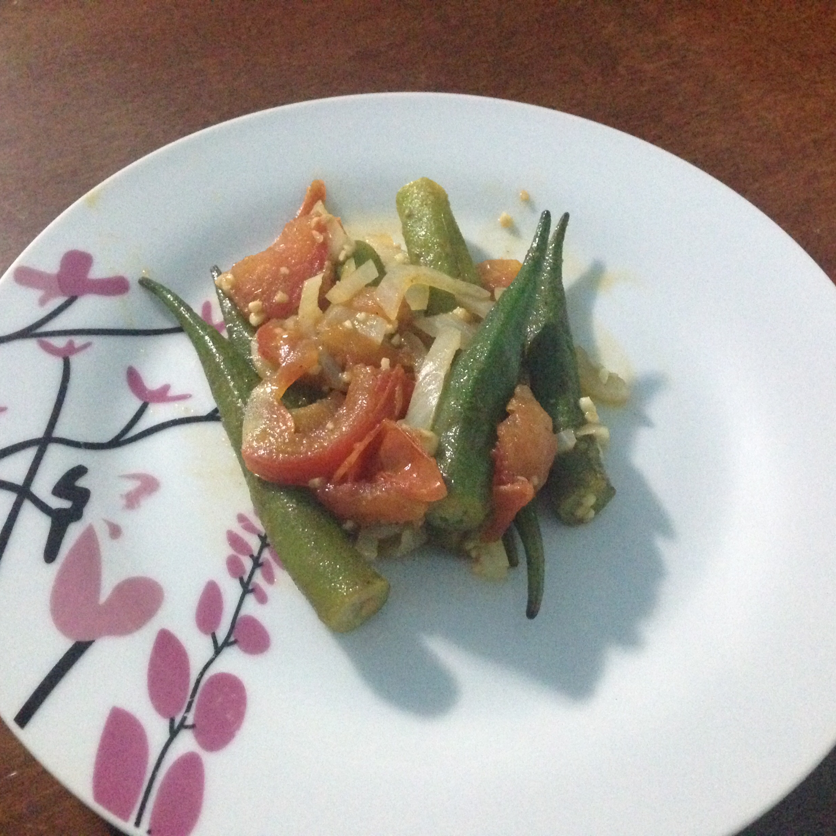 Okra with Tomatoes Ciane Lima