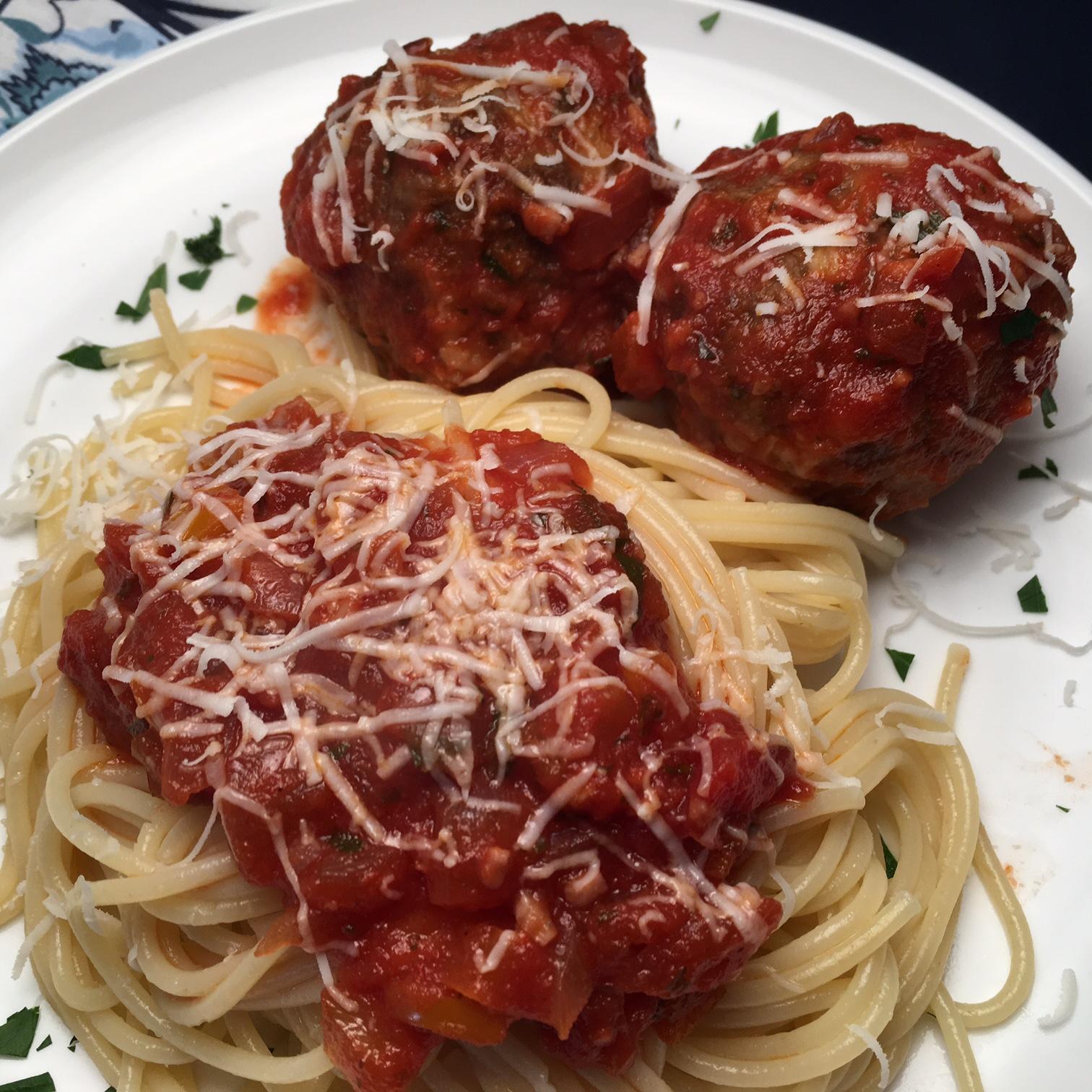 Mama's Best Ever Spaghetti and Mozzarella Meatballs