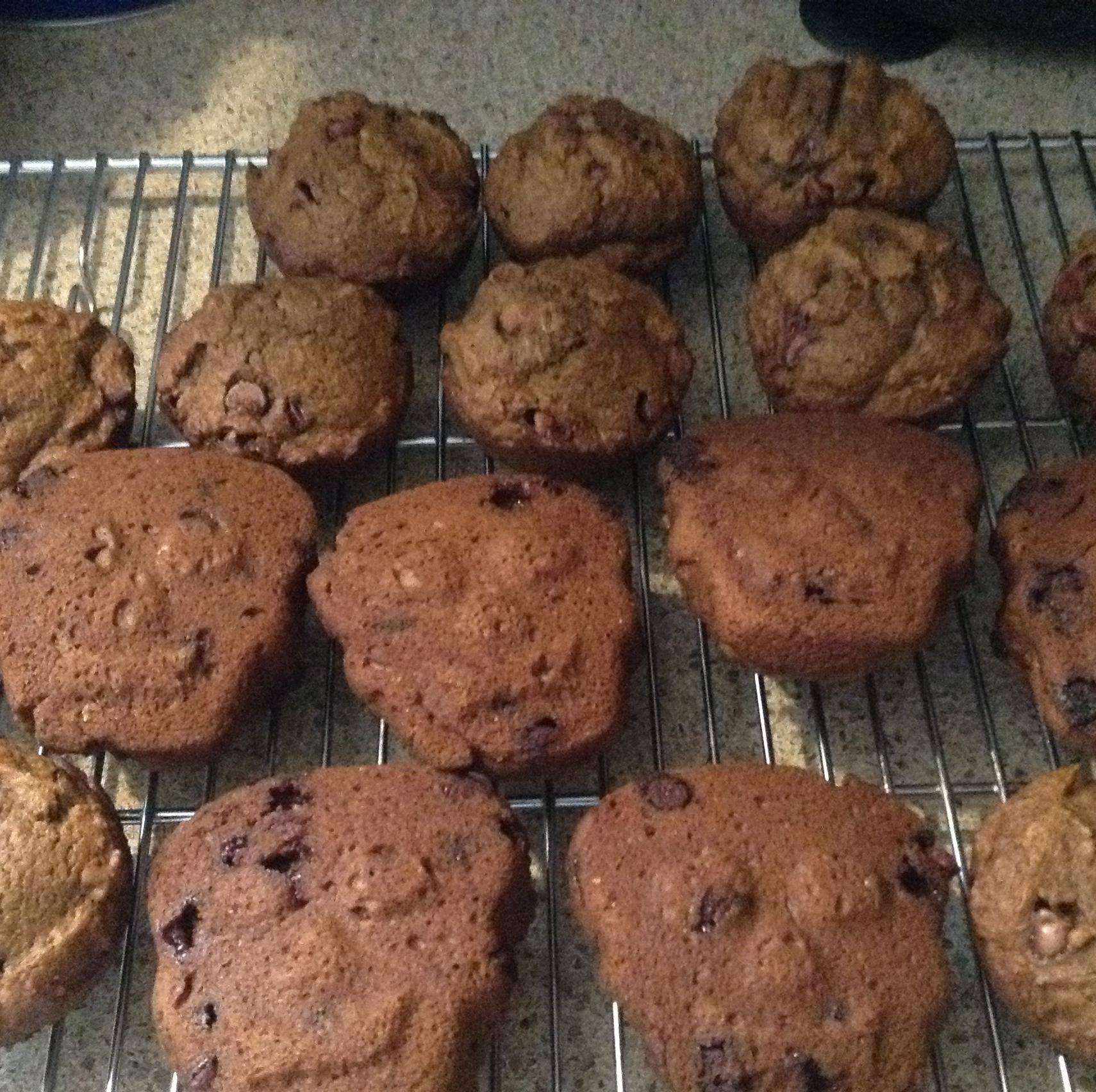 Pumpkin-Dark Chocolate Chip Muffins momof2boys1girl
