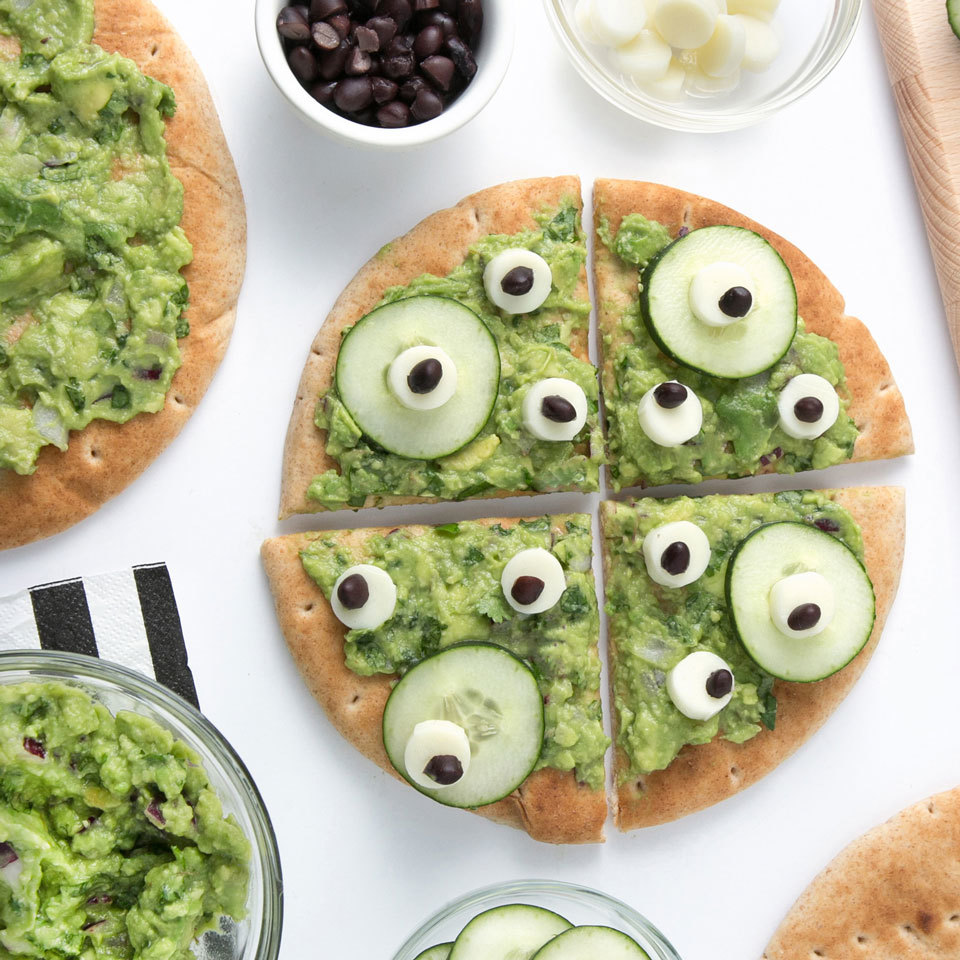No-Bake Monster Pita Pizza Melissa Fallon