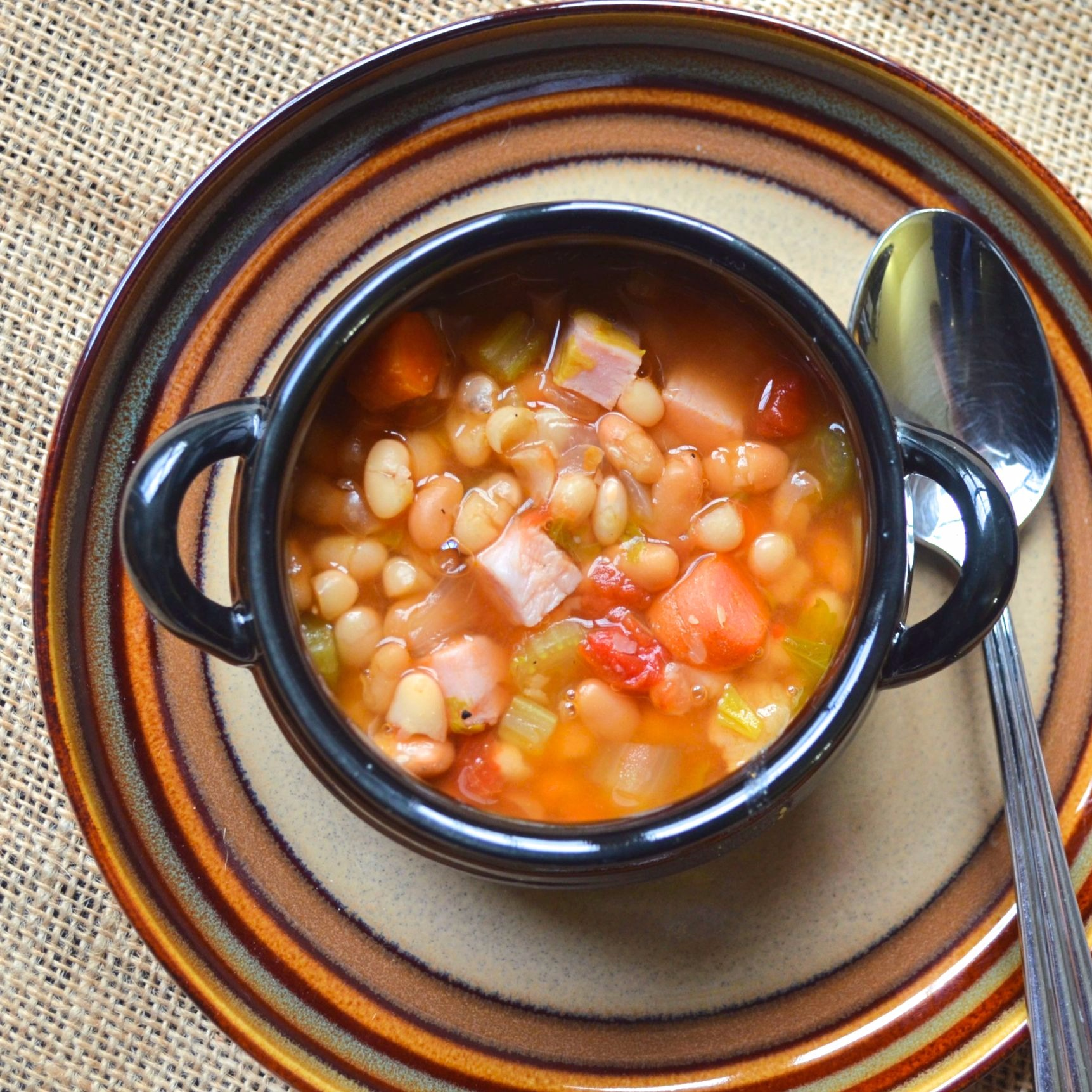 Instant Pot® Double Bean and Ham Soup