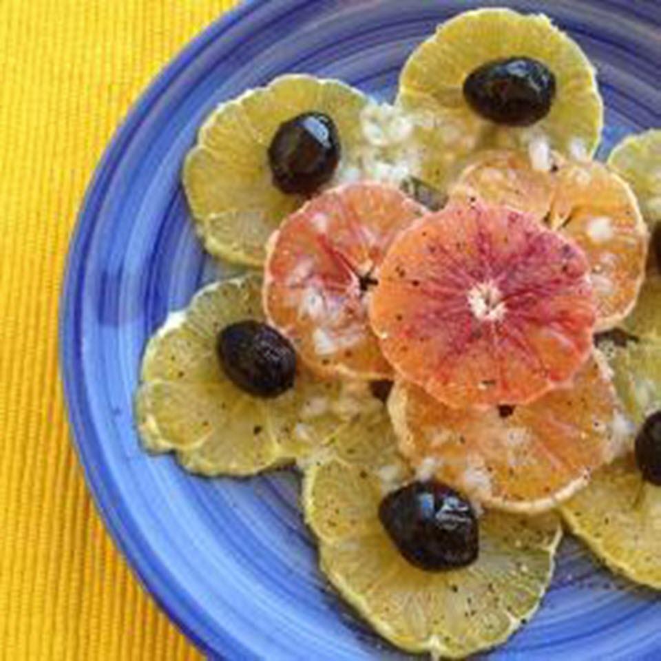 Turkish Orange Salad with Mediterranean Dressing