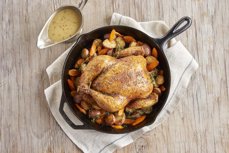 Roast Chicken Dinner with Gravy