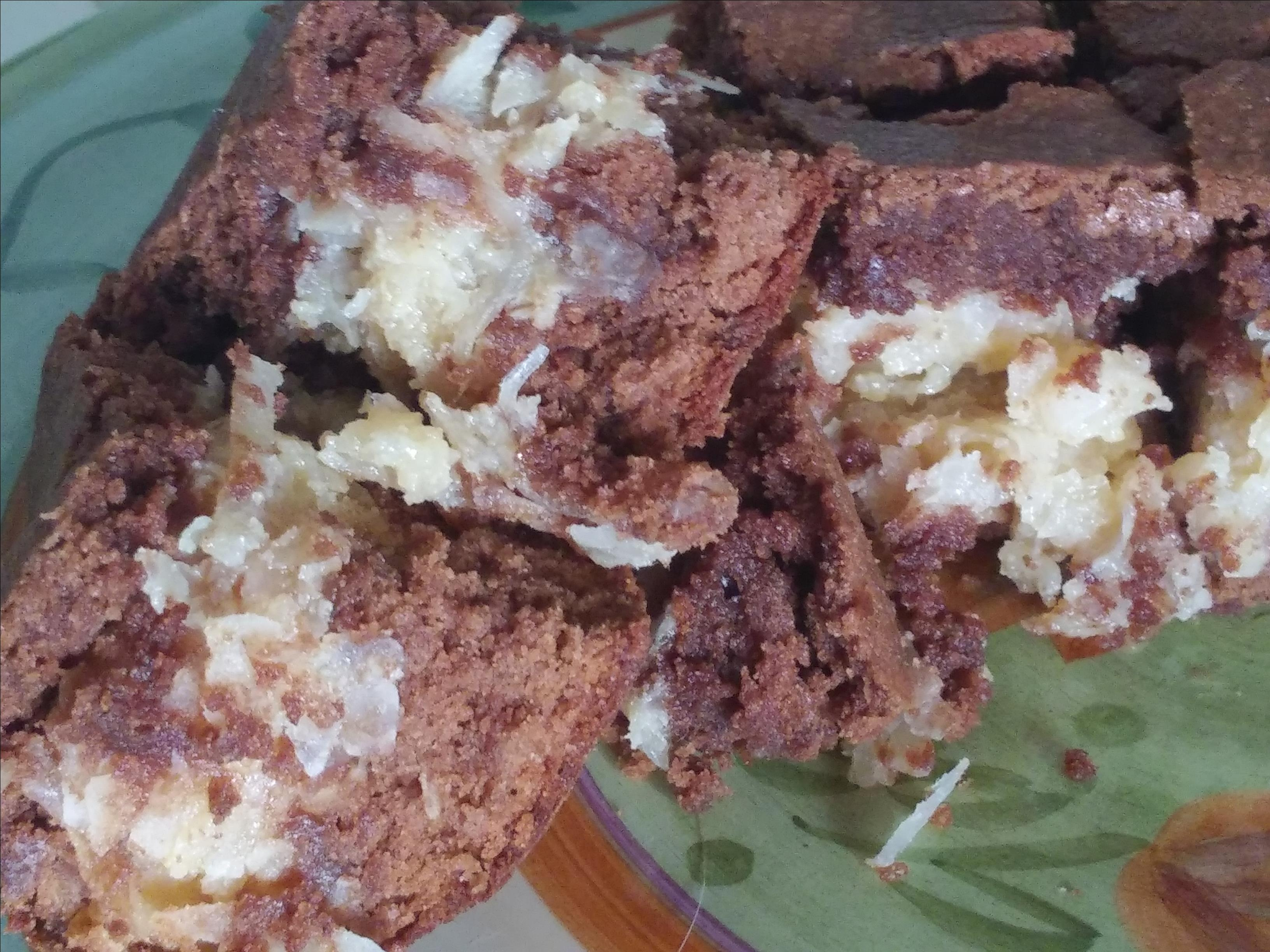 Coconut Macaroon Brownies vcw funknay