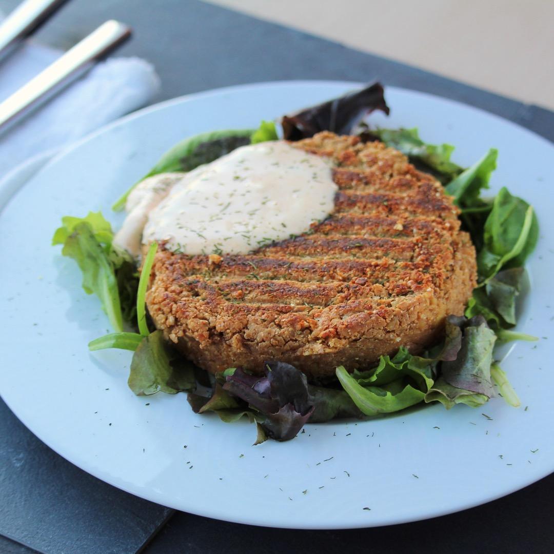 4-Ingredient Chickpea Burger for One (Vegan)