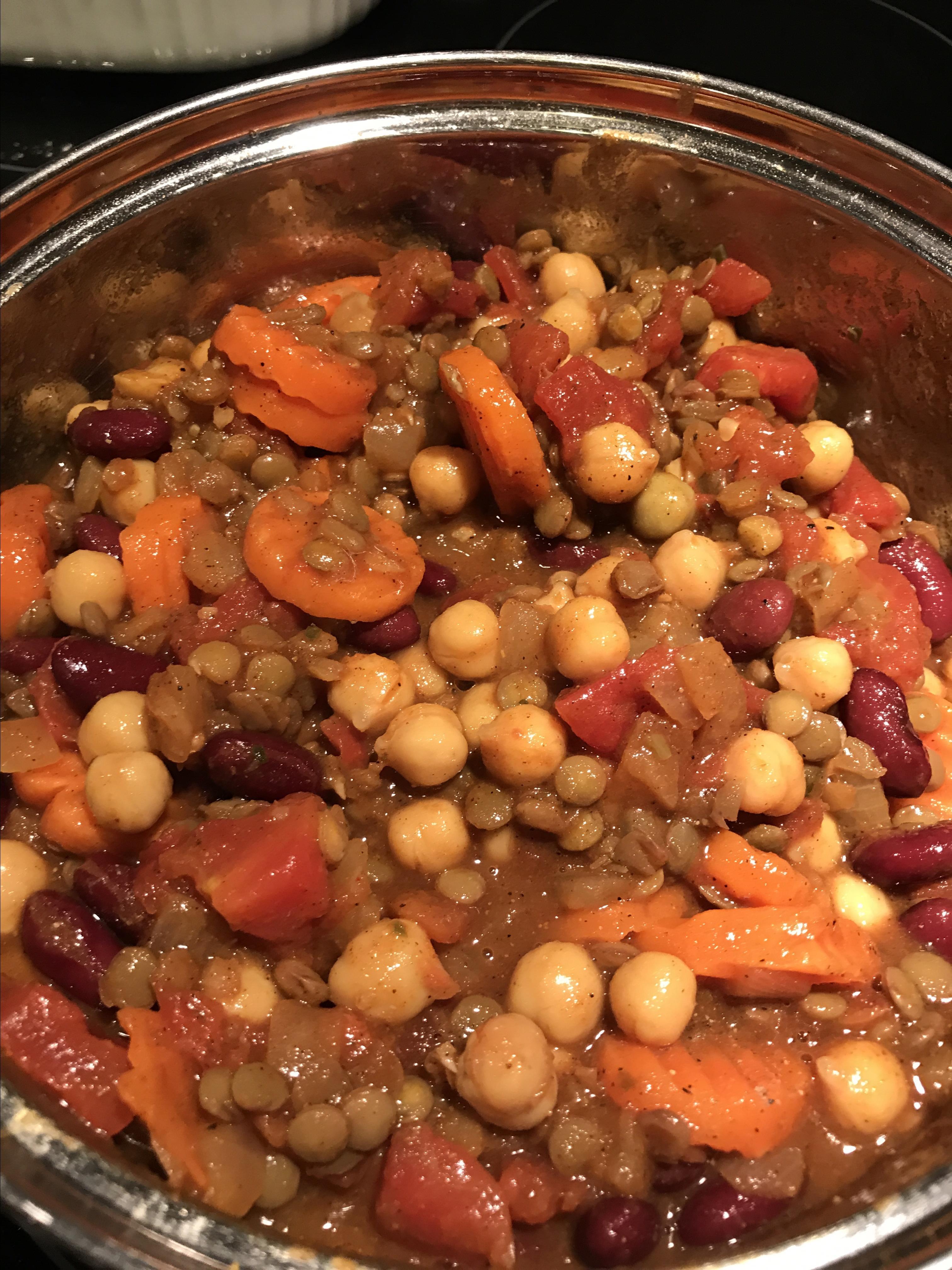 Vegetarian Bean Curry AuntieLaLa
