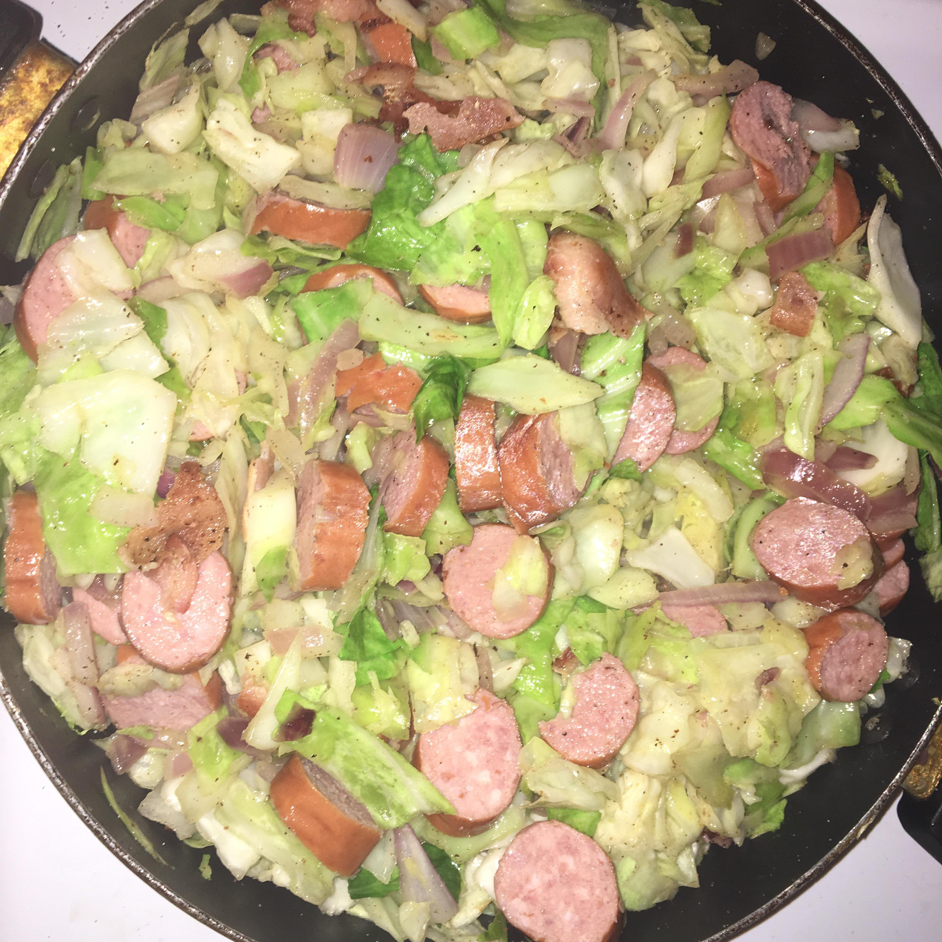 Fried Cabbage and Kielbasa