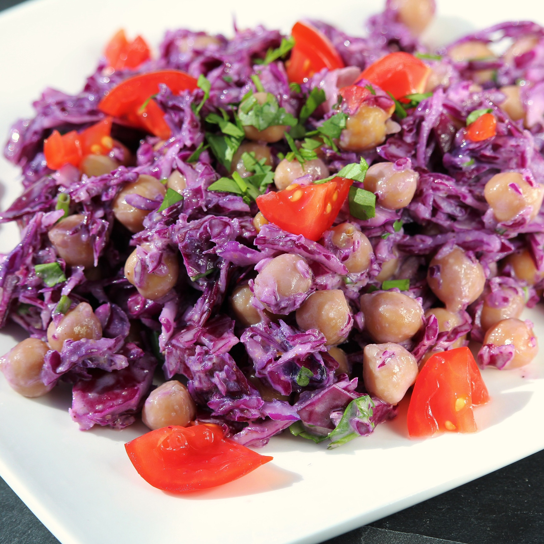 Red Cabbage and Chickpea Salad emilygrace