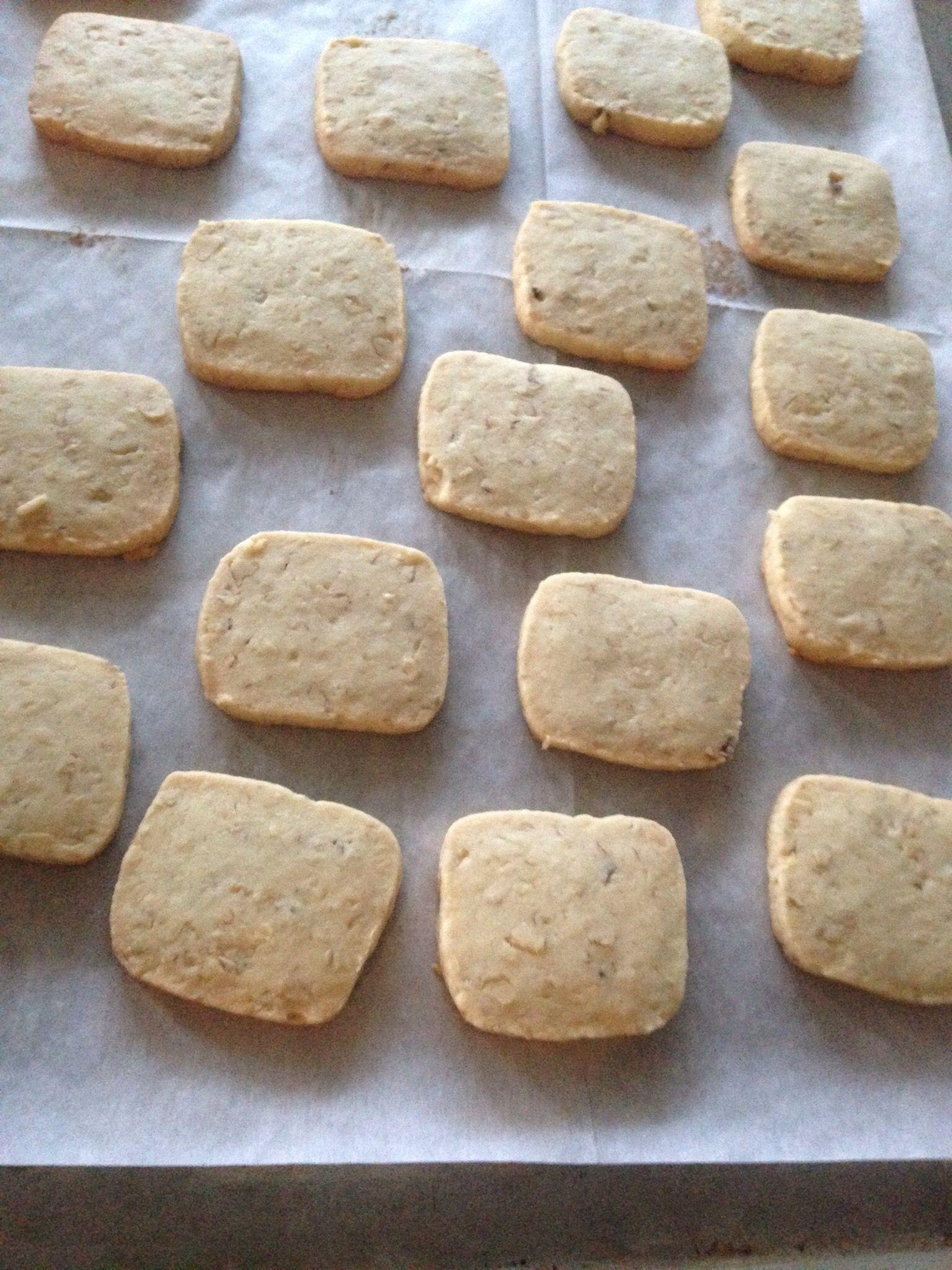 German Walnut Shortbread Cookies