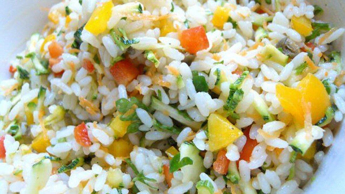 Mediterranean Rice Salad With Vegetables Recipe Allrecipes