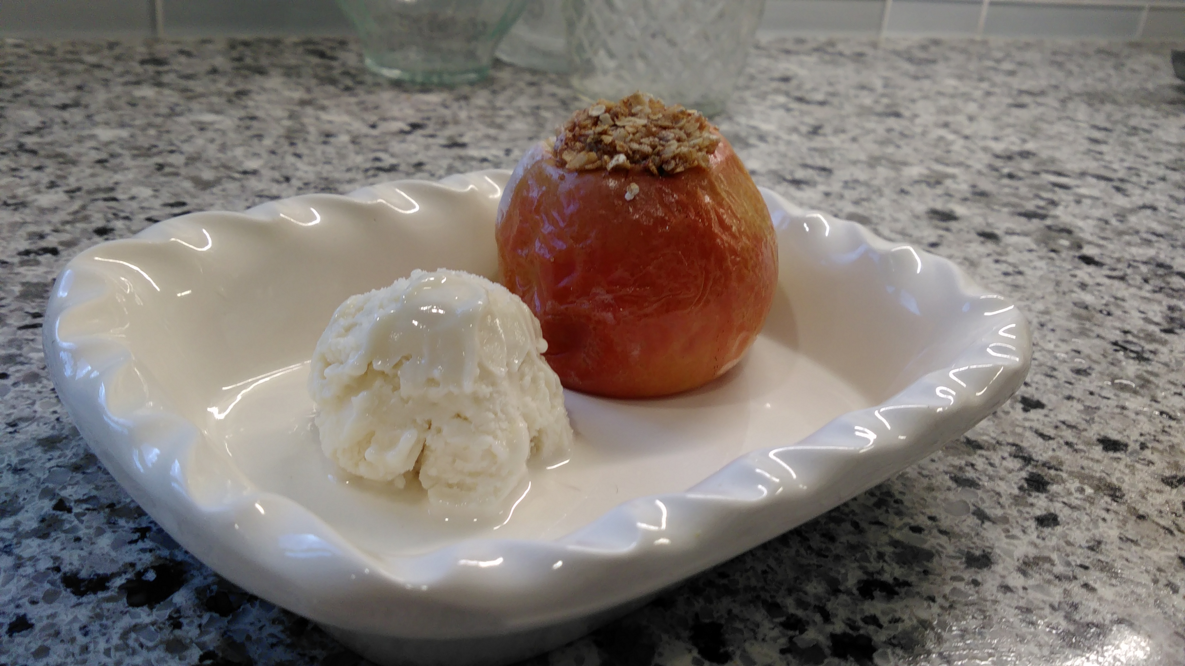 Baked Apples with Oatmeal Filling Bren