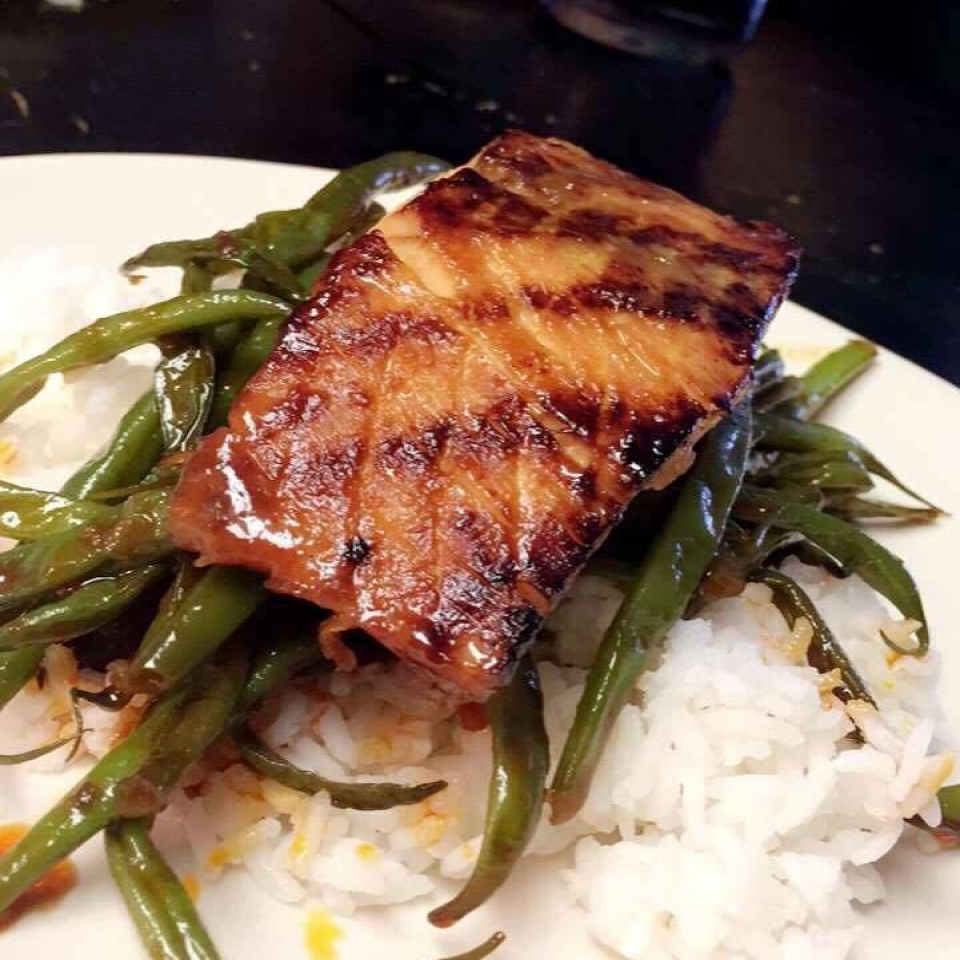 Lime and Miso-Glazed Salmon