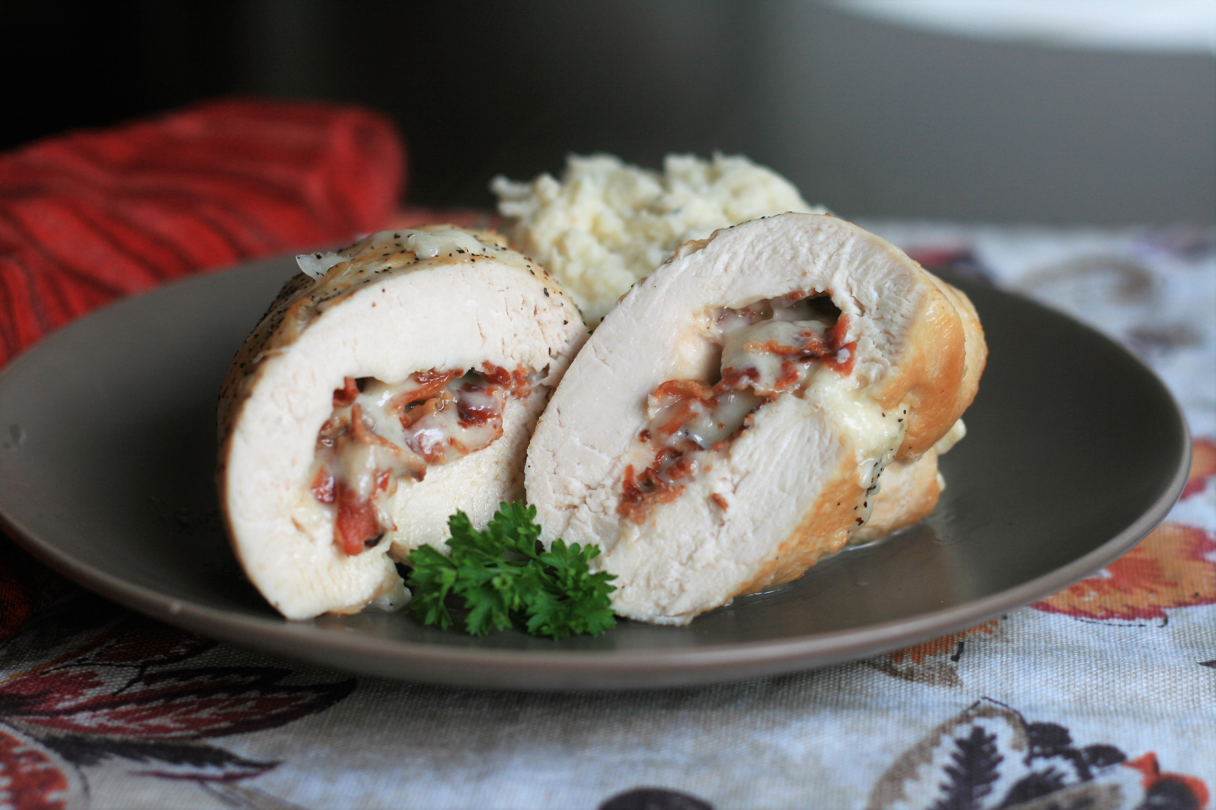 Chicken Rolls with Smoked Fontina and Bacon