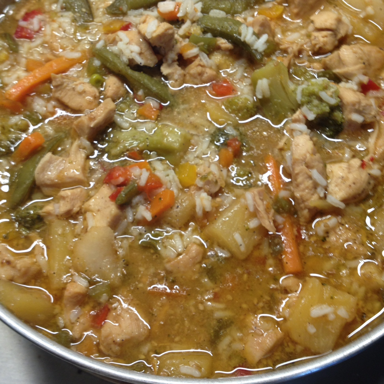 Easy Sweet and Sour Chicken from Minute® Rice tina