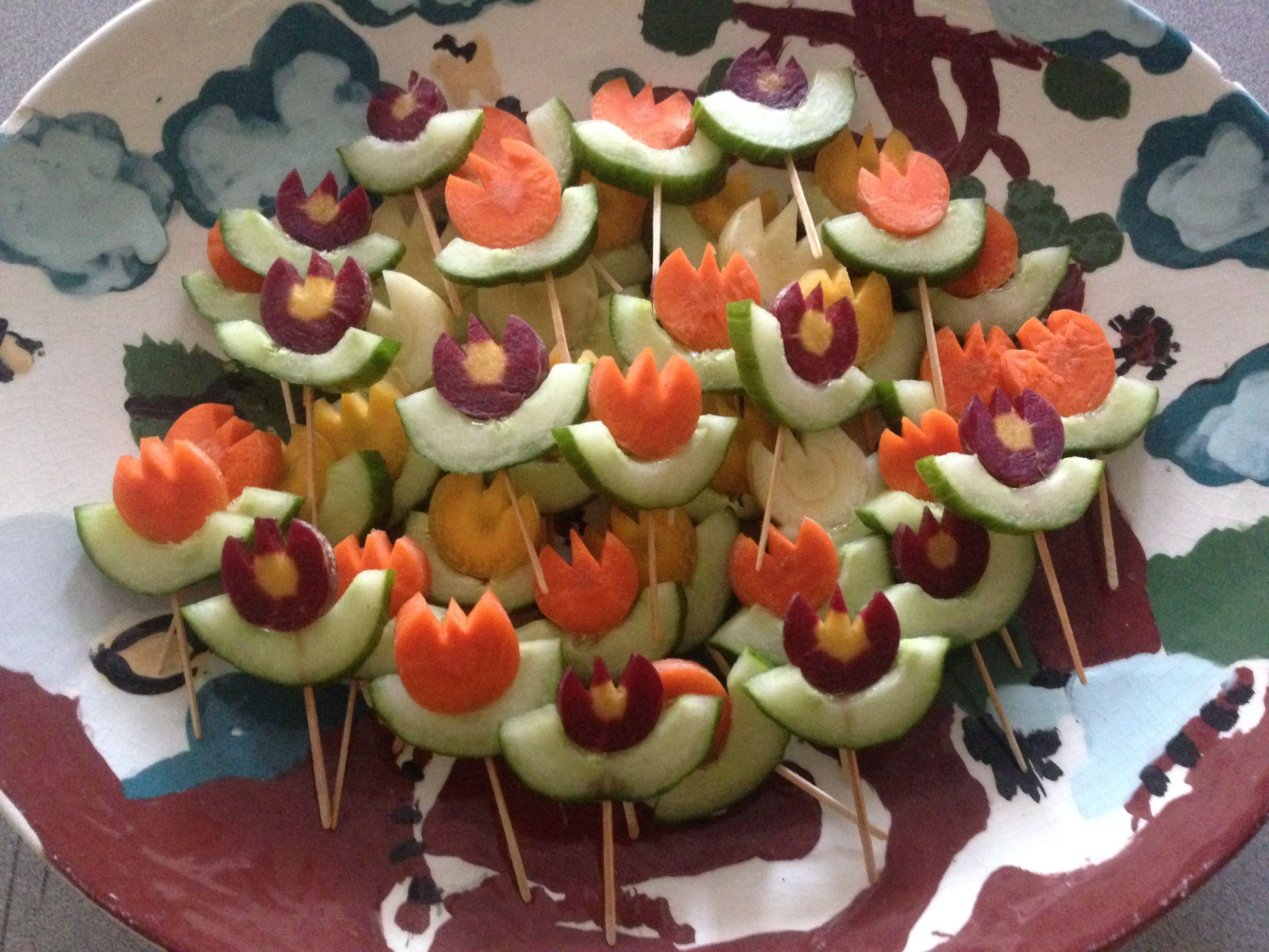 Carrot-Cucumber Flowers for Kids AllrecipesPhoto