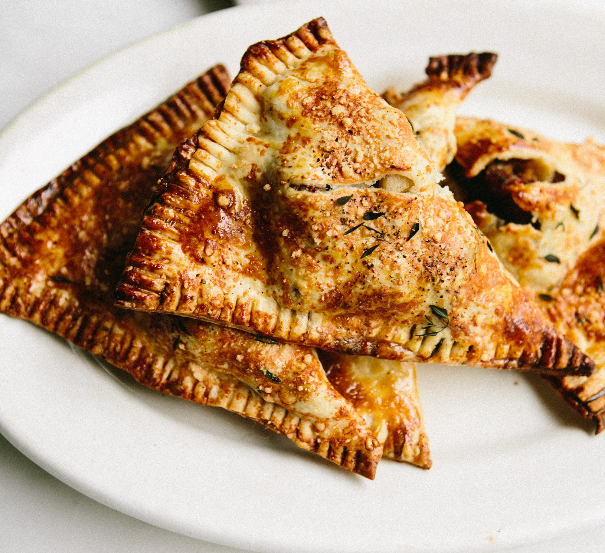 Sausage and Apple Pie in a Parmesan Thyme Crust Ashley Baron Rodriguez