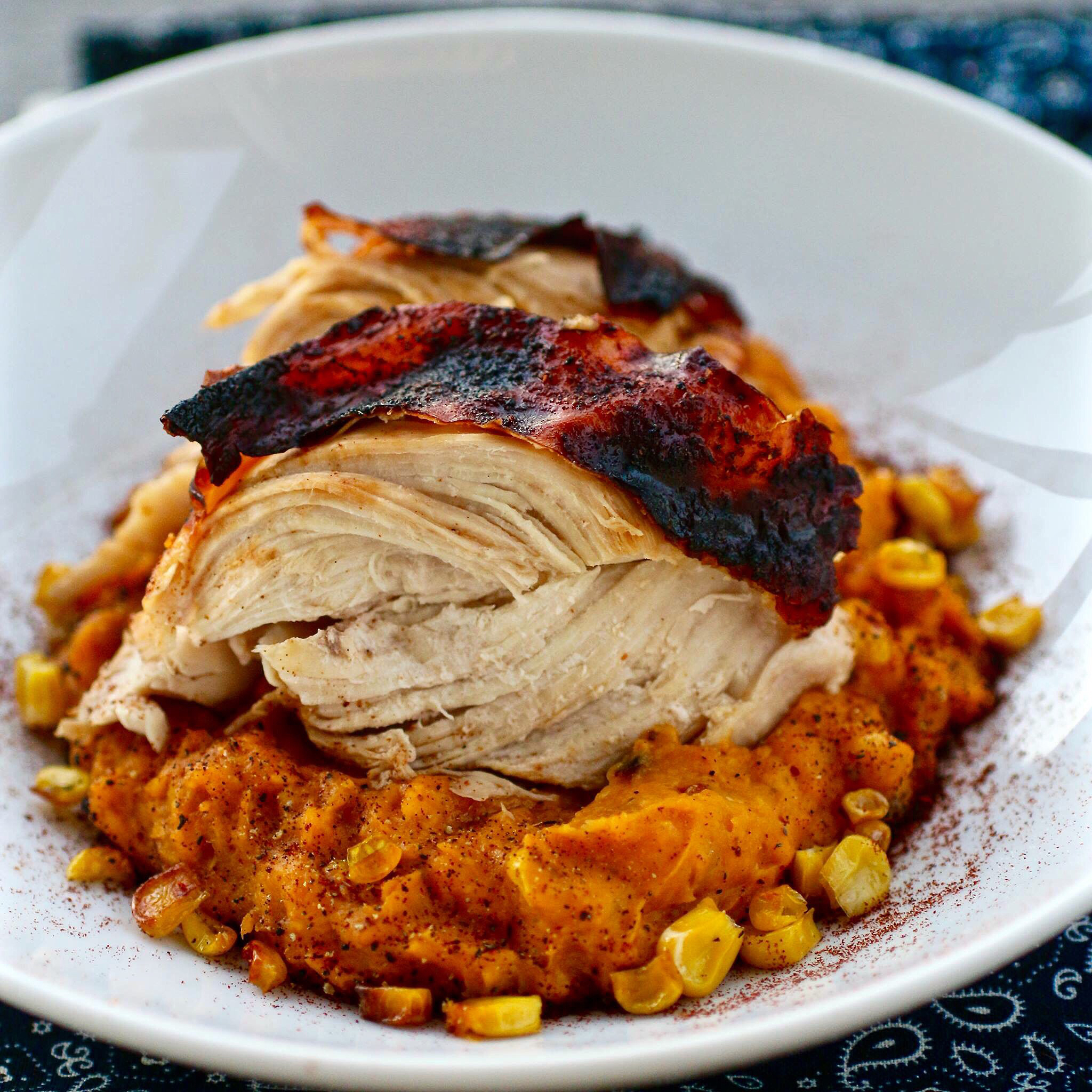Aztec Chicken With Sweet Potato Corn Mash Recipe Allrecipes