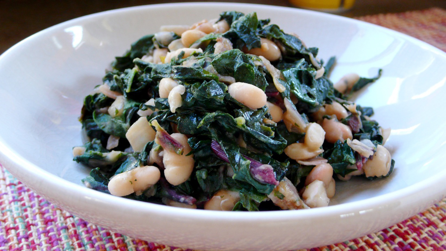 """Here's a forgiving recipe that's a great way to get your greens! """"I eat it as a main dish, but this could easily be fit for four to six sides,"""" says recipe submitter Diana. """"Feel free to substitute different kinds of greens depending on what's in season, and use regular diced bacon instead of pancetta if desired."""""""