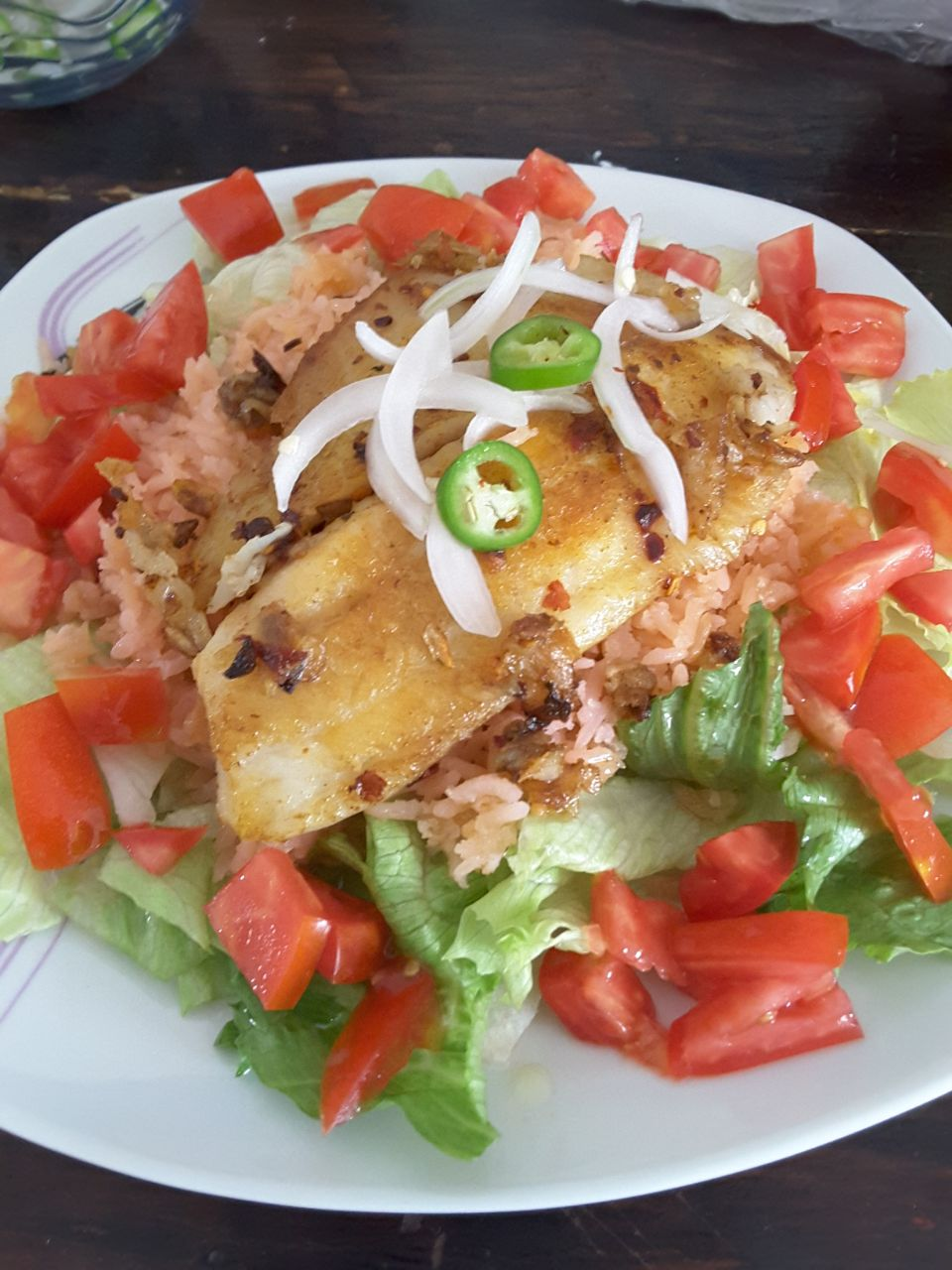 Mexican Rice and Tilapia Salad