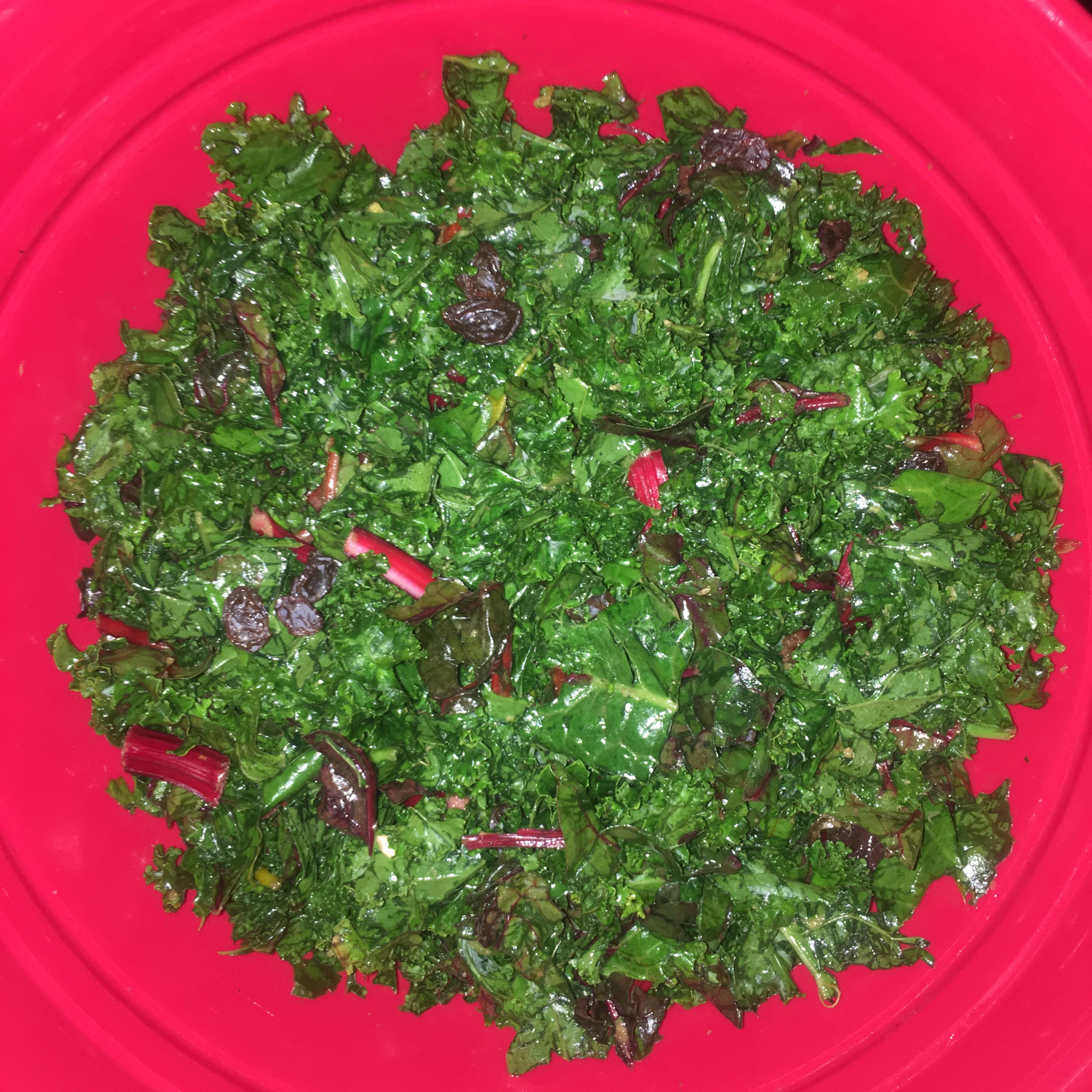 Honey-Ginger Kale Salad Wanda