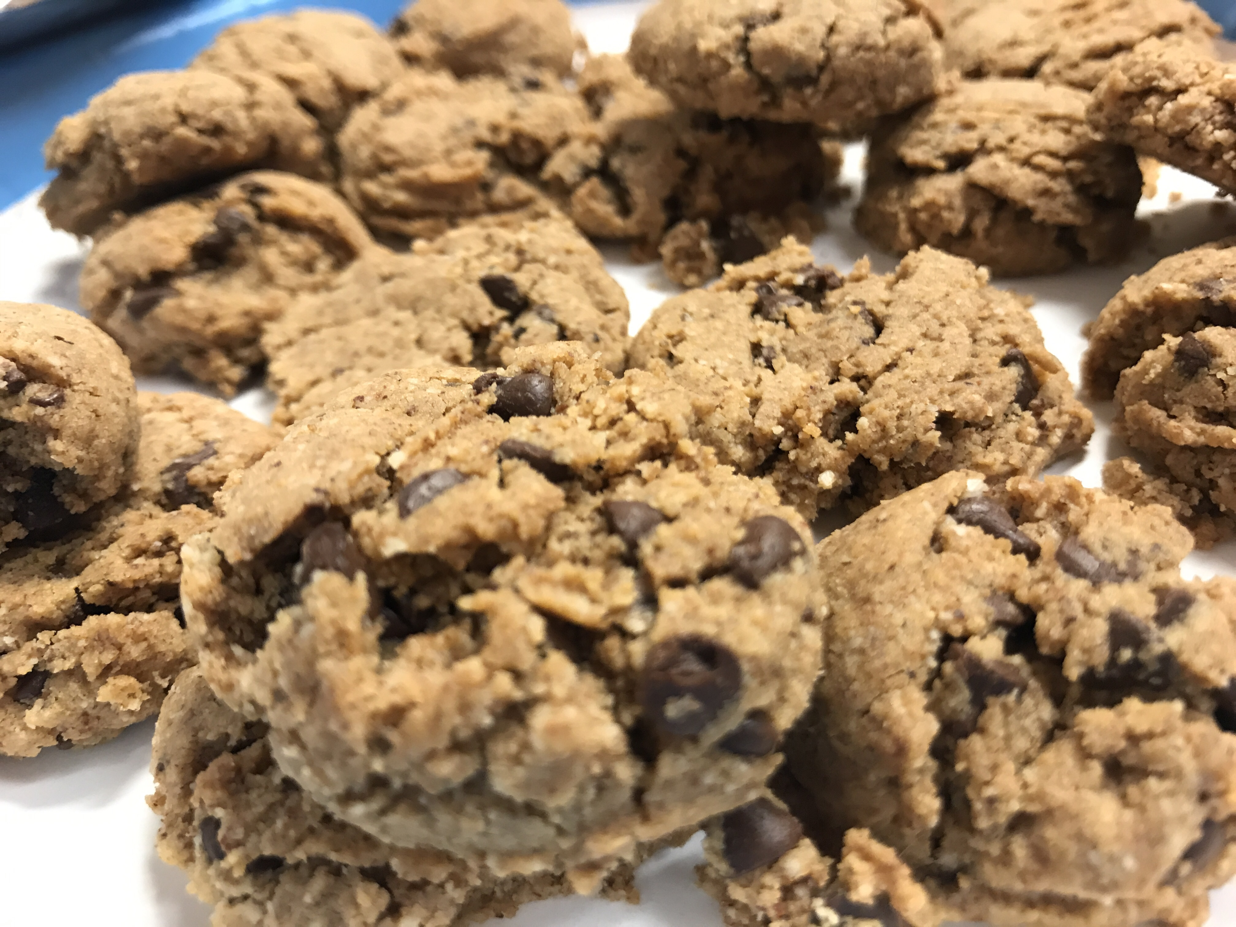 "It looks like a chocolate chip cookie. It taste like a chocolate chip cookie, but it's gluten-free, grain-free, and dairy-free. ""Thank you so much for this healthy alternative to chocolate chip cookies,"" says reviewer Julie. ""Made these to the exact recipe, cooked them for 10 mins and they came out to perfection, soft centers with crisp edges!"""