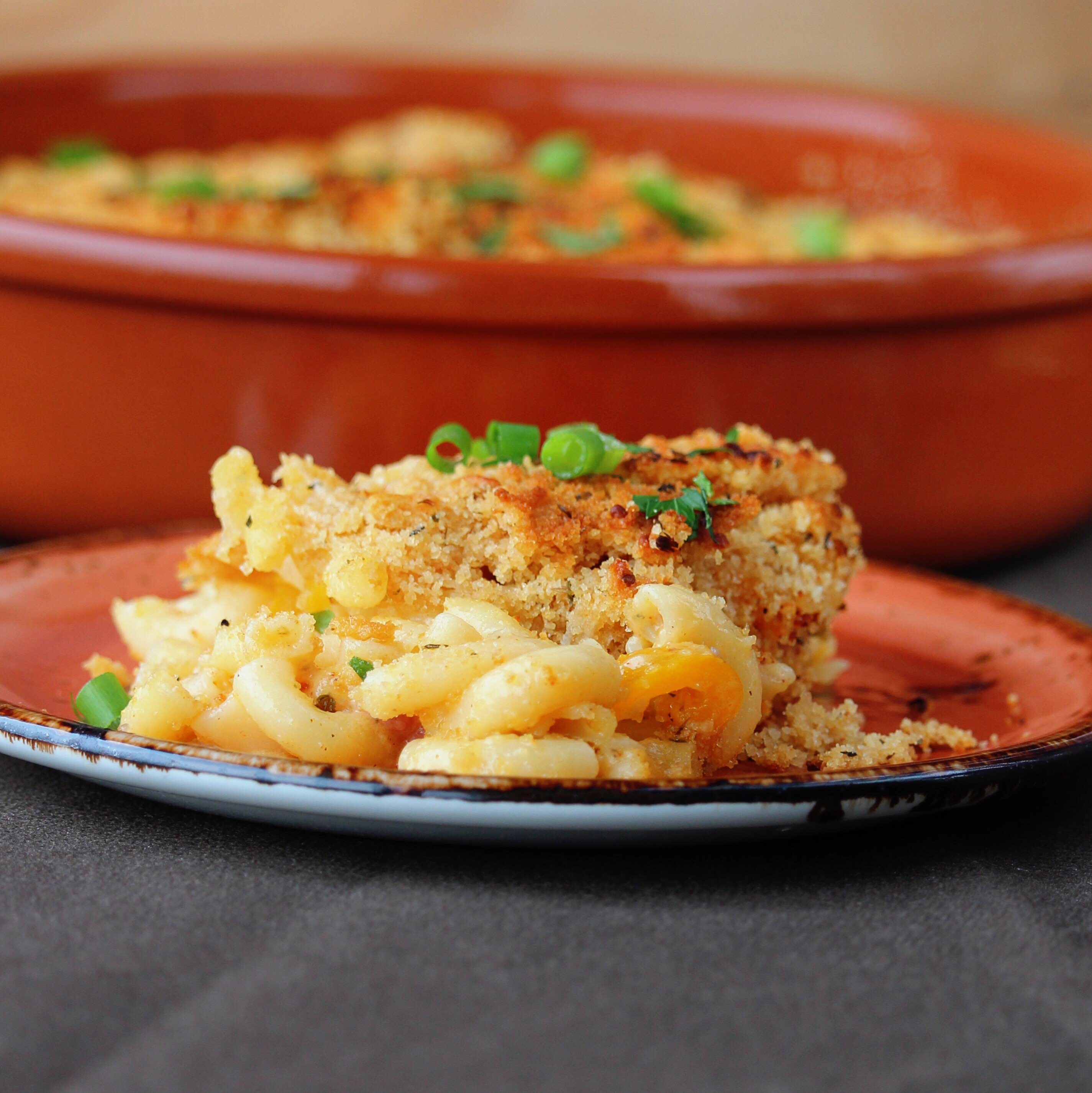 Macaroni and Peppers in White Sauce