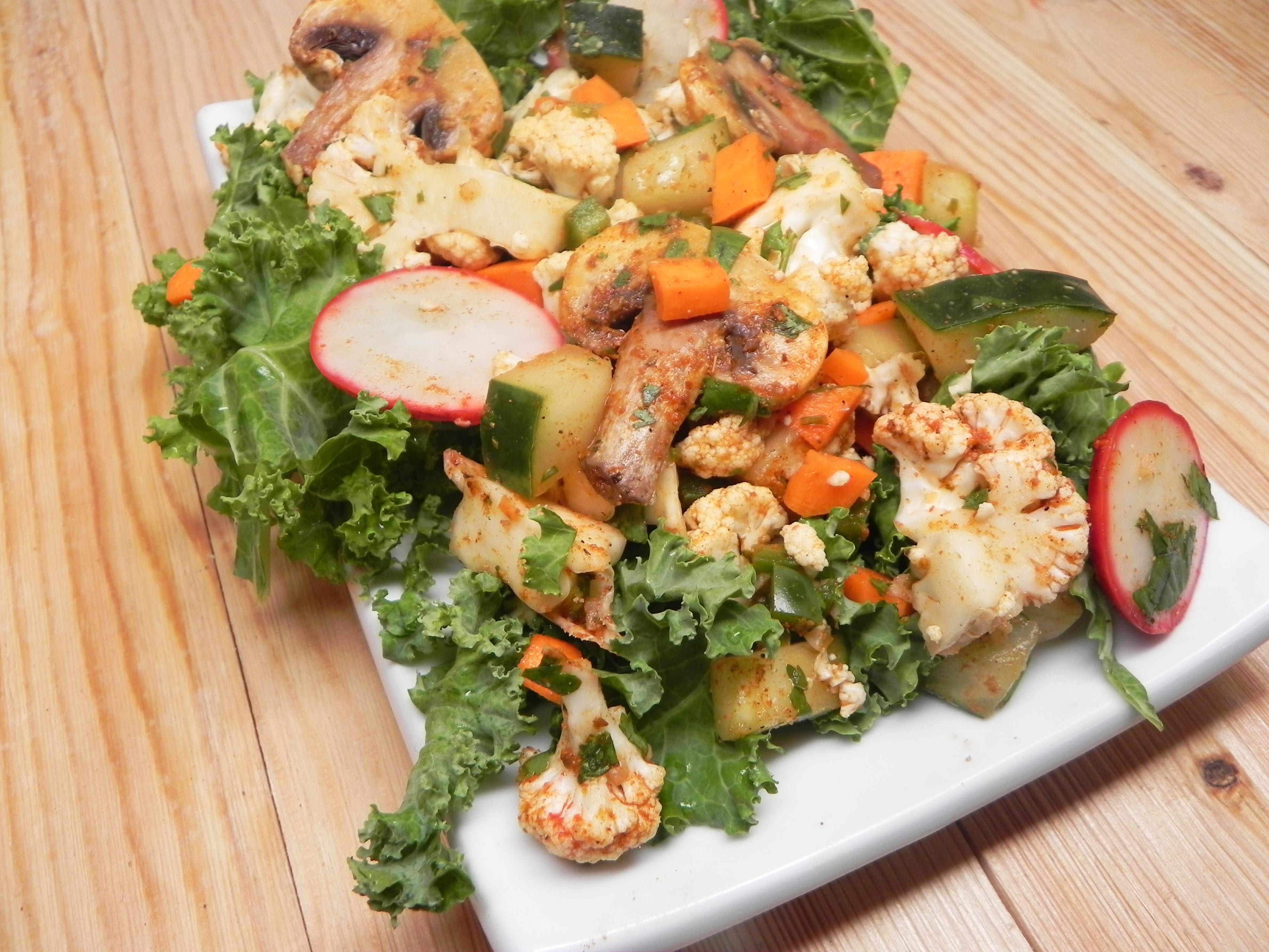 Chorizo-Spiced Party-Sized Chopped Veggie Salad
