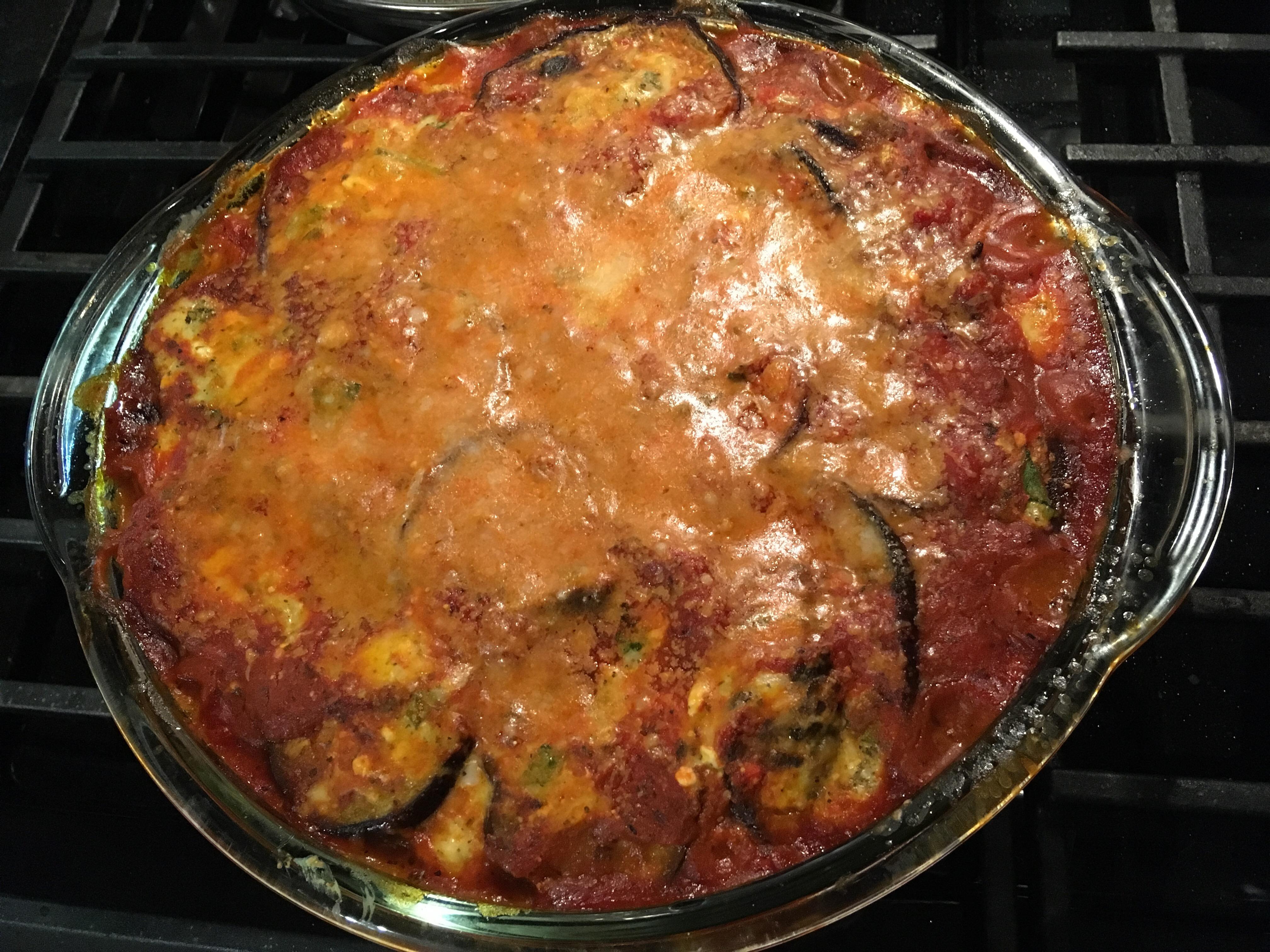 Eggplant Parmesan I poppy