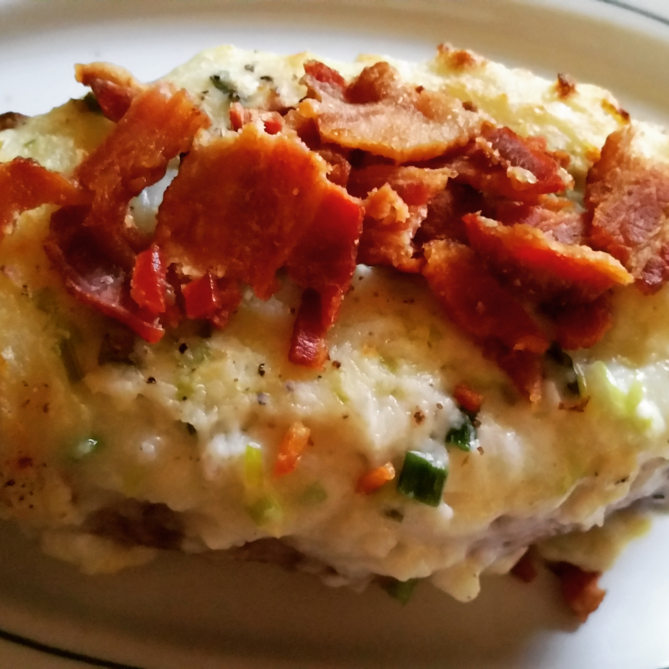 Twice-Baked Potatoes with Creamy Green Onion Sauce Vickie M.