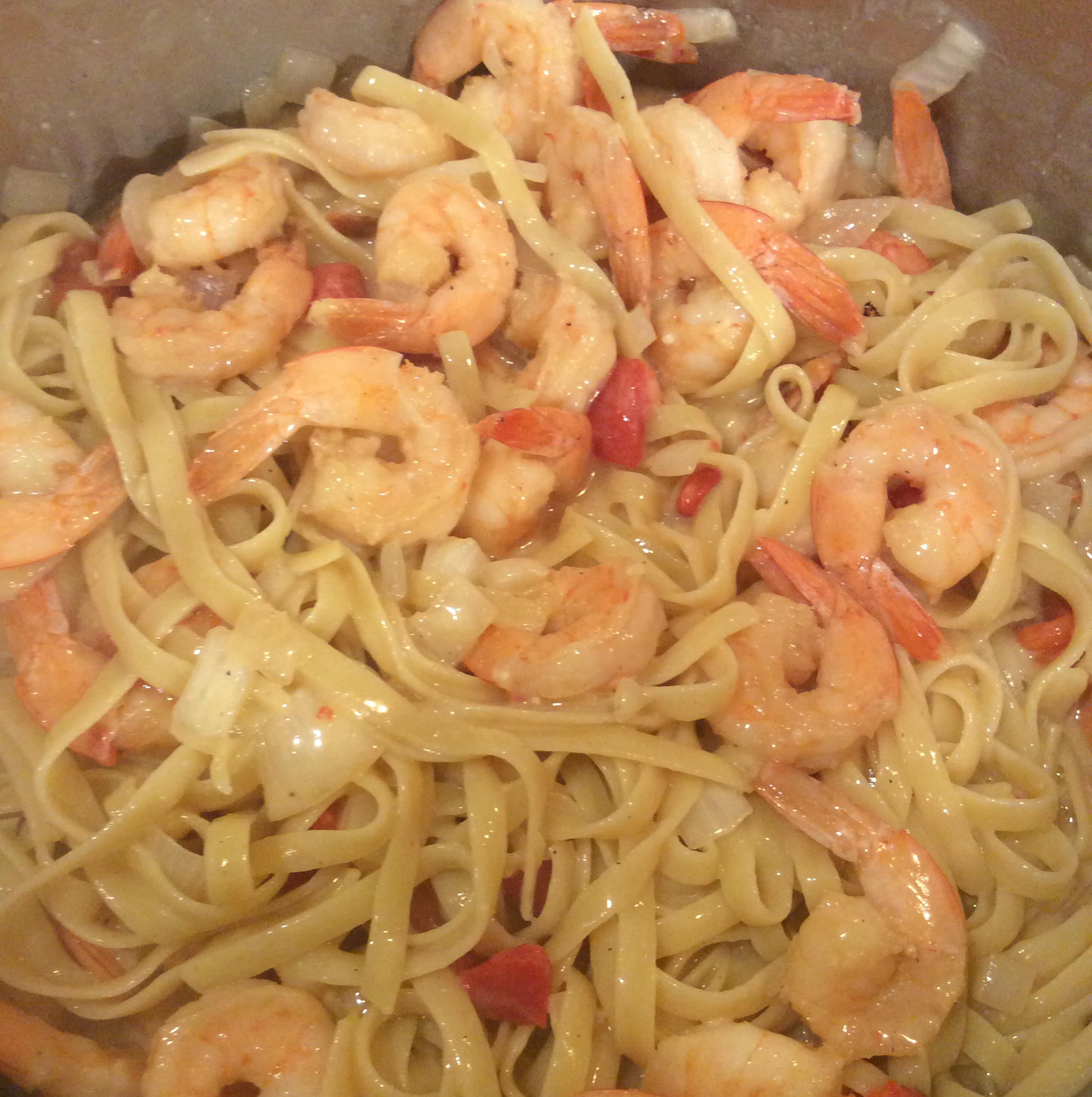 Blackened Shrimp Stroganoff