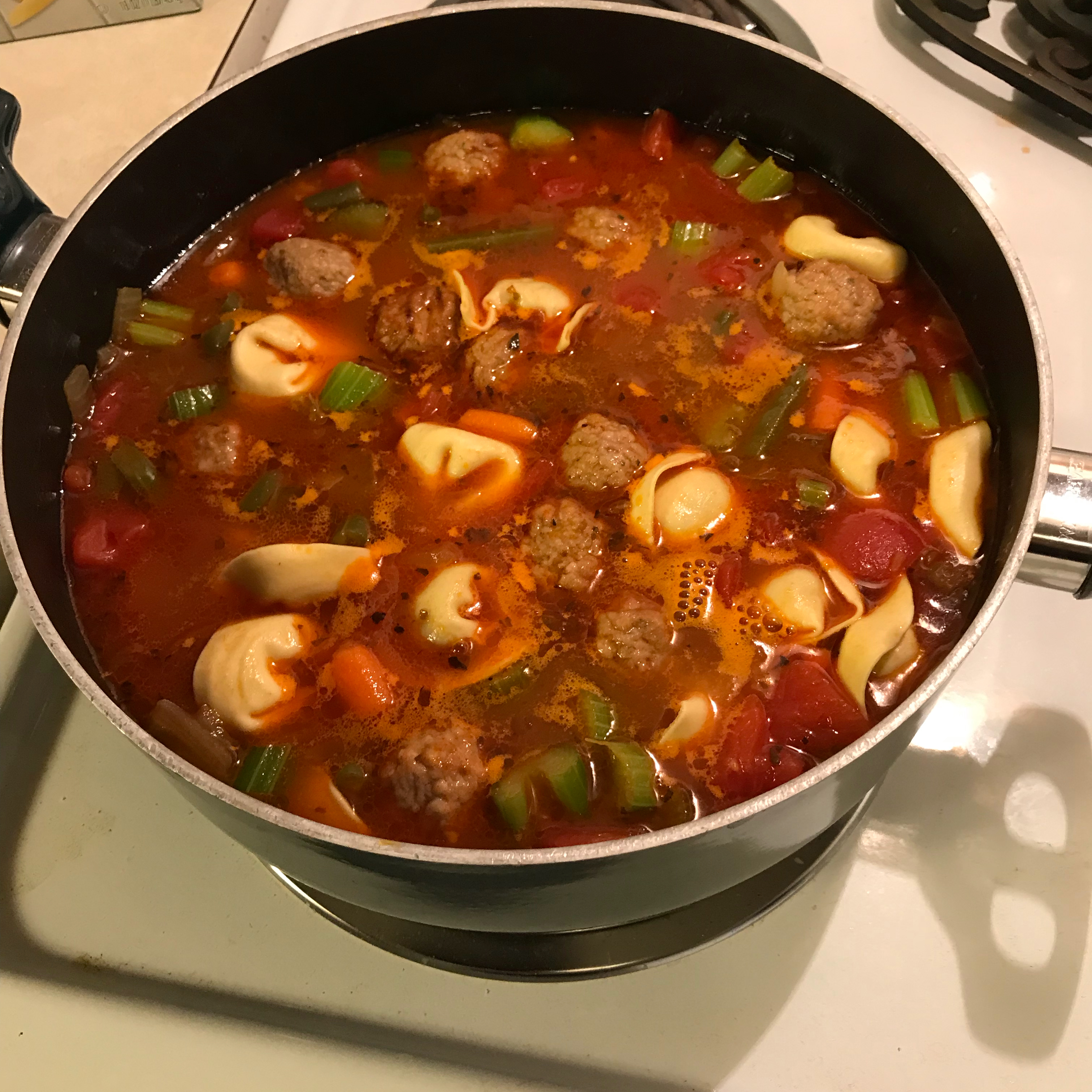 Italian Meatball and Cheese Tortellini Soup nickie
