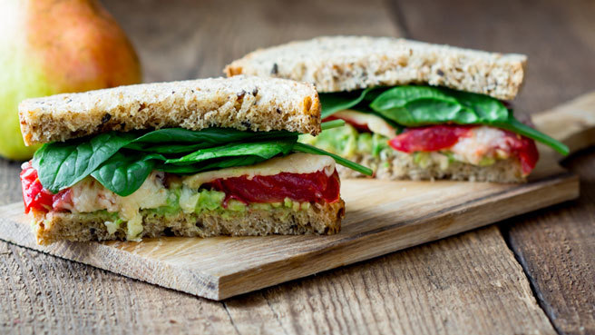 Tomato-&-Avocado Cheese Sandwich Trusted Brands