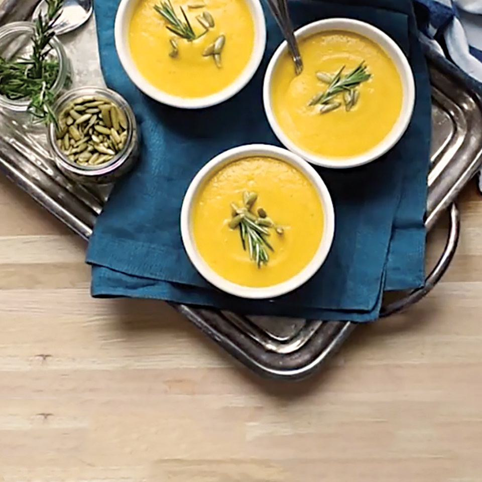 Roasted Butternut Squash and Apple Soup with College Inn® Broth