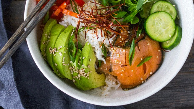 Salmon Sushi Buddha Bowl Trusted Brands