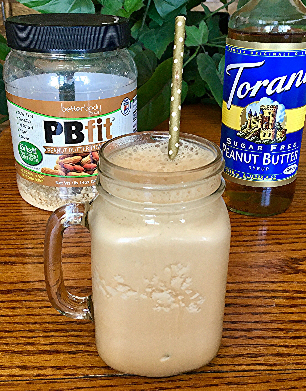 Skinny Peanut Butter Iced Coffee