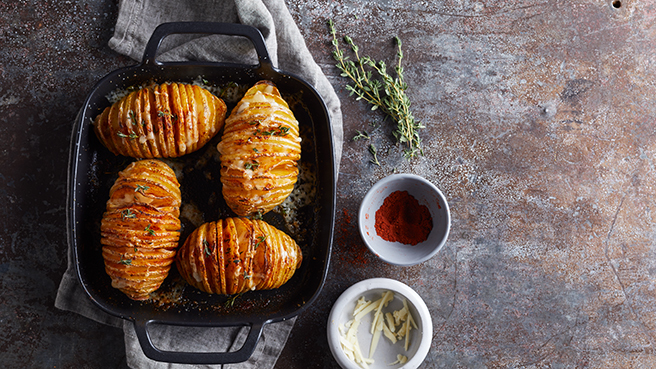 Hasselback Potatoes with Cheese Trusted Brands