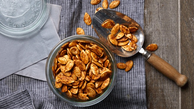 Spicy Chile-Roasted Pumpkin Seeds Trusted Brands