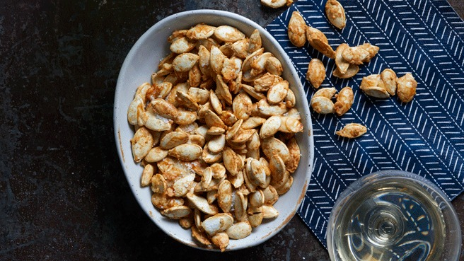 Garlic-Parmesan Roasted Pumpkin Seeds Trusted Brands