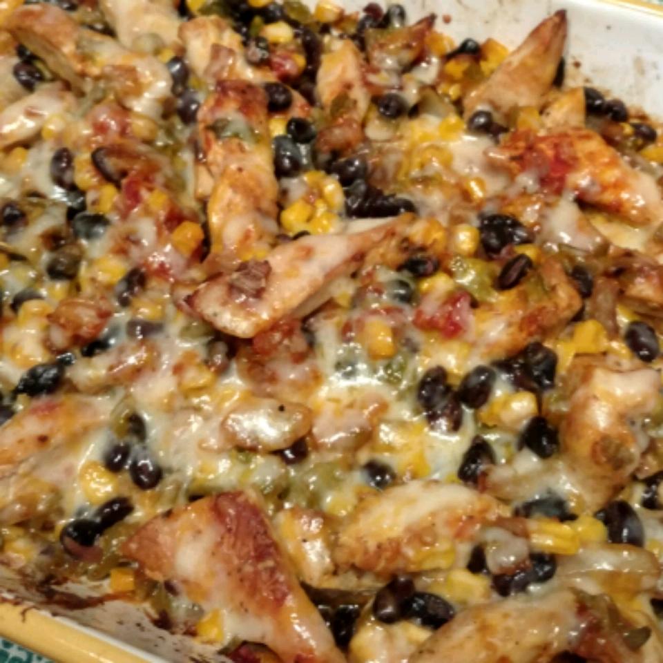 Chicken-Black Bean Casserole sarascarangella