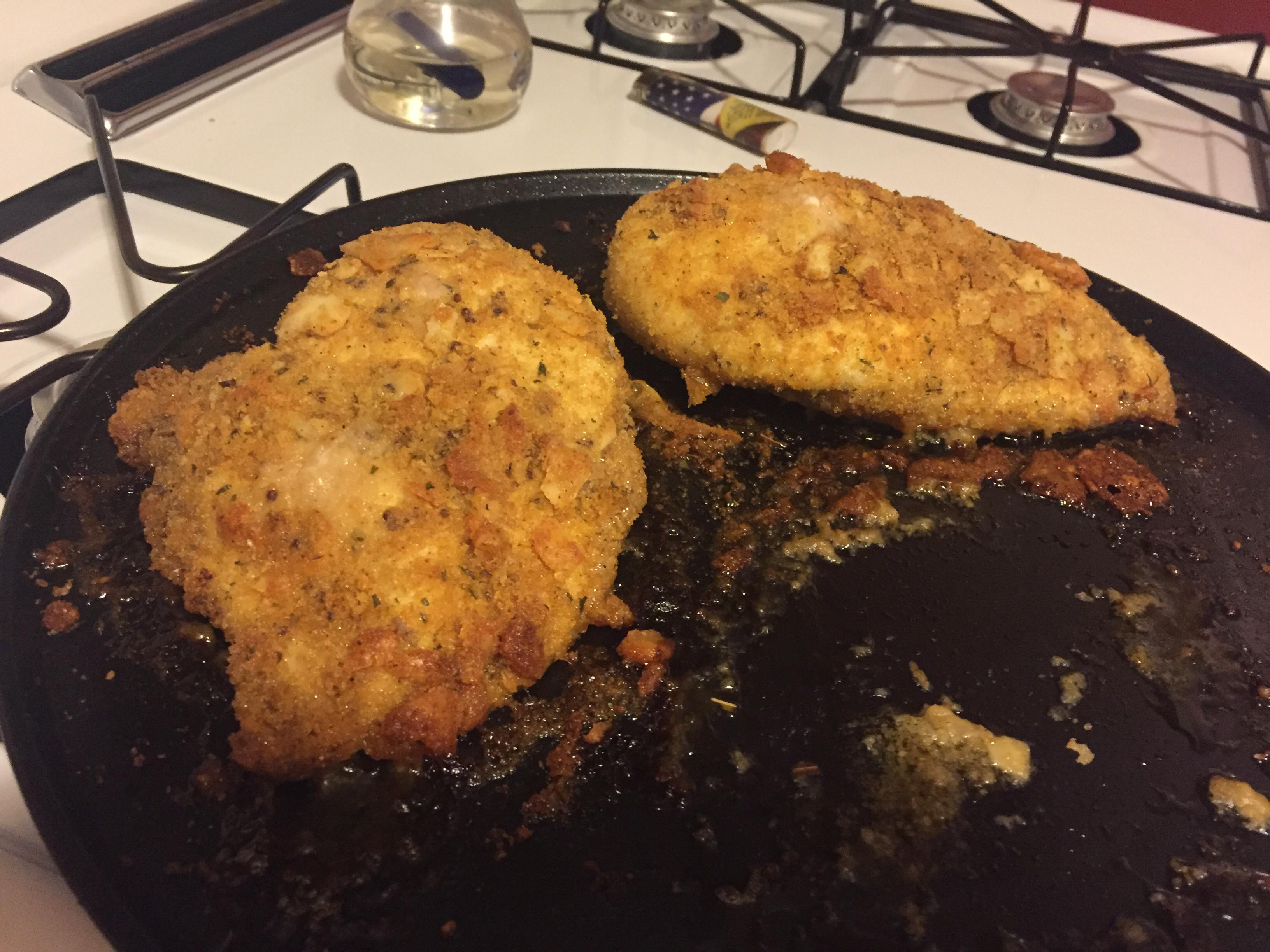 Quick Crispy Parmesan Chicken Breasts sueweinst