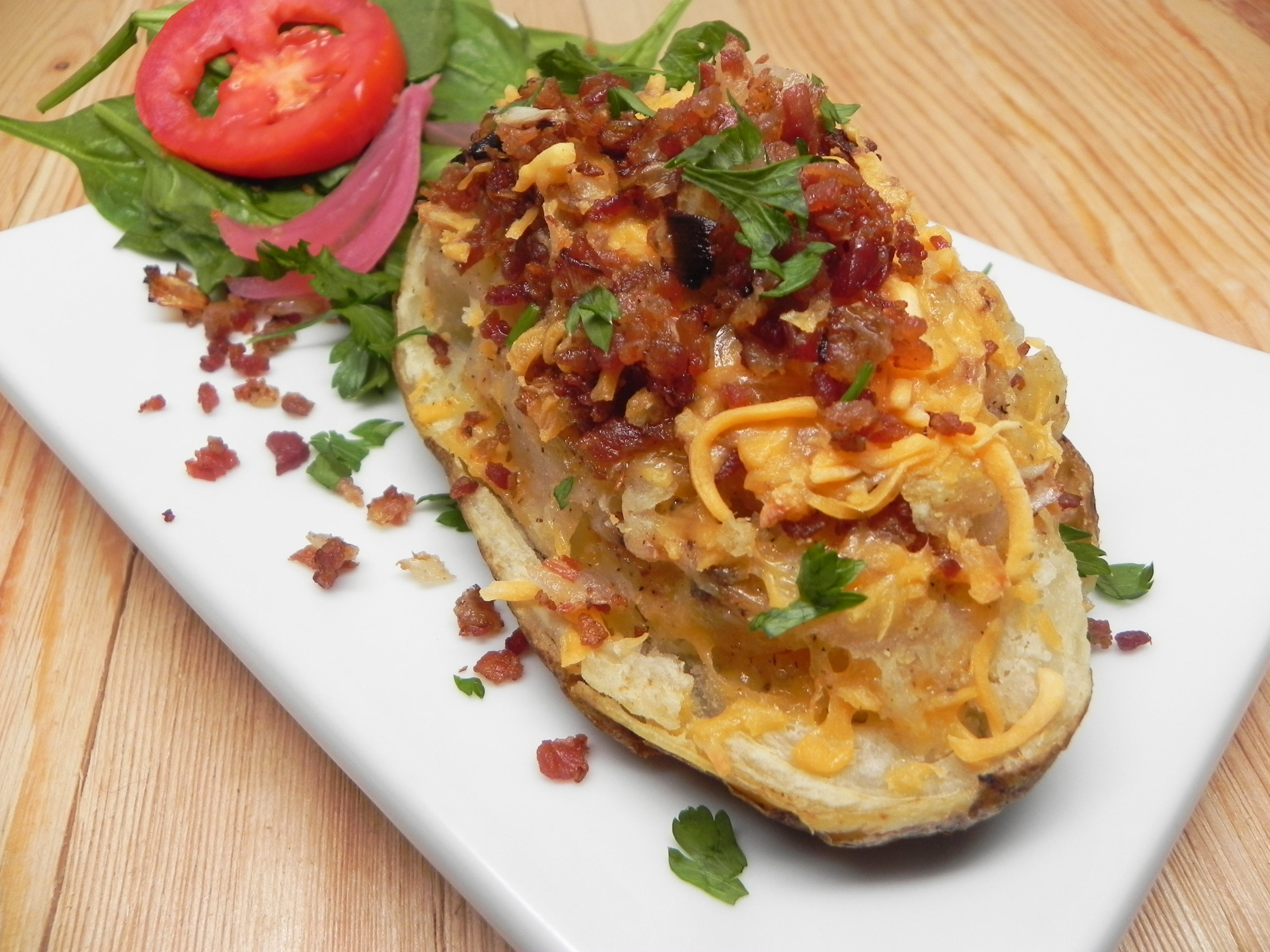 Stuffed Air Fryer Potatoes