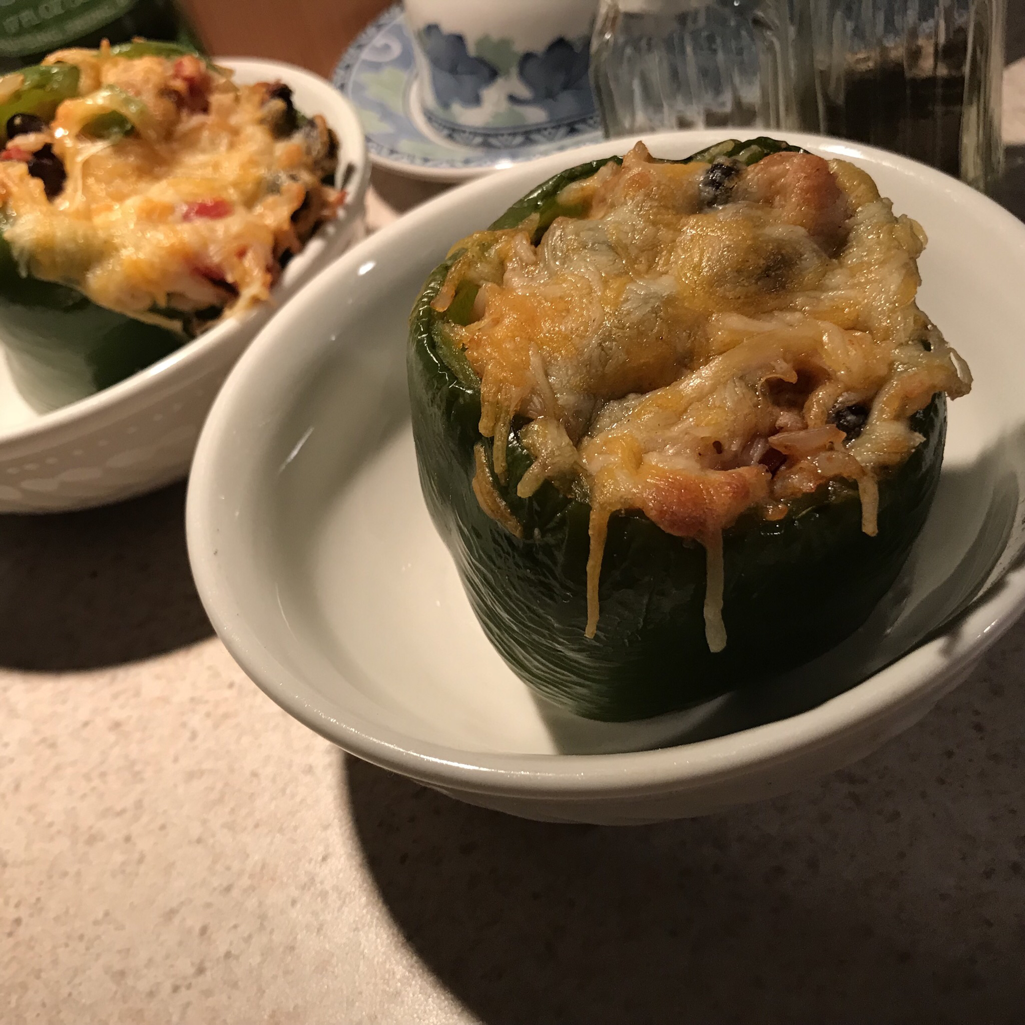 Vegetarian Mexican Inspired Stuffed Peppers M-Ann-M