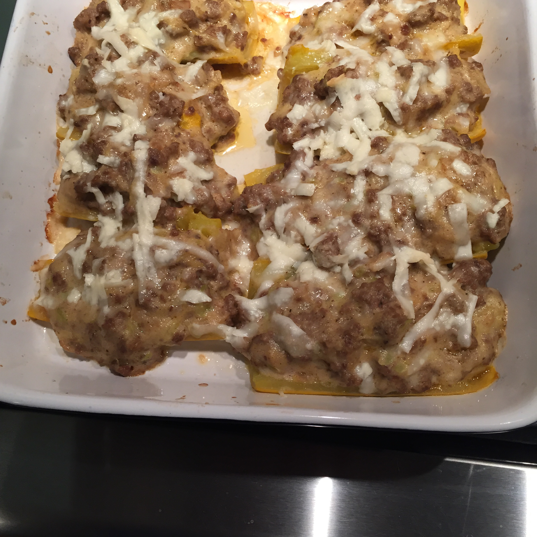 Creamy Meat-Stuffed Zucchini Lynn Seeman