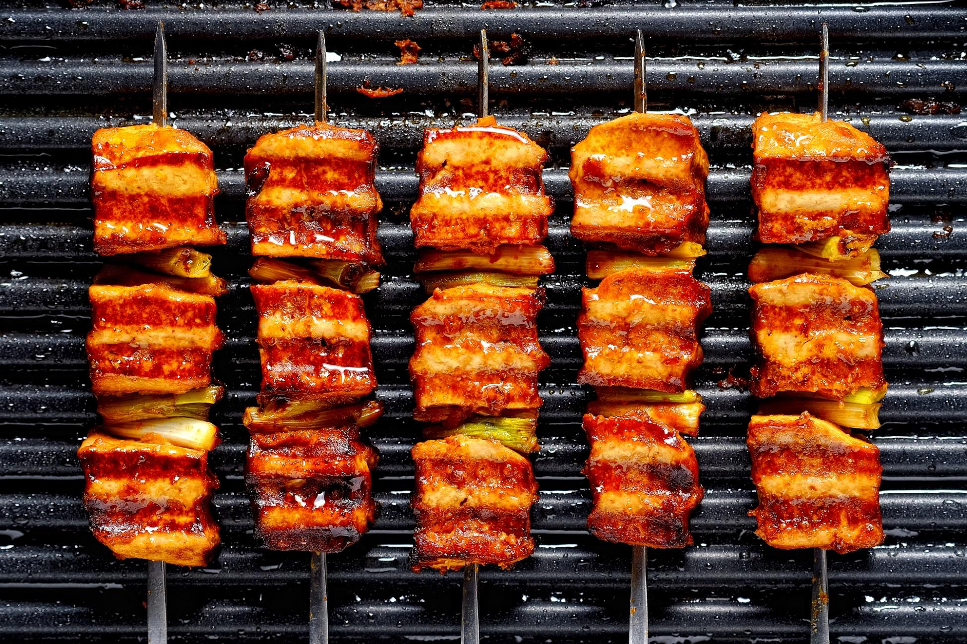 Vegan Korean Tofu and Leek Barbeque