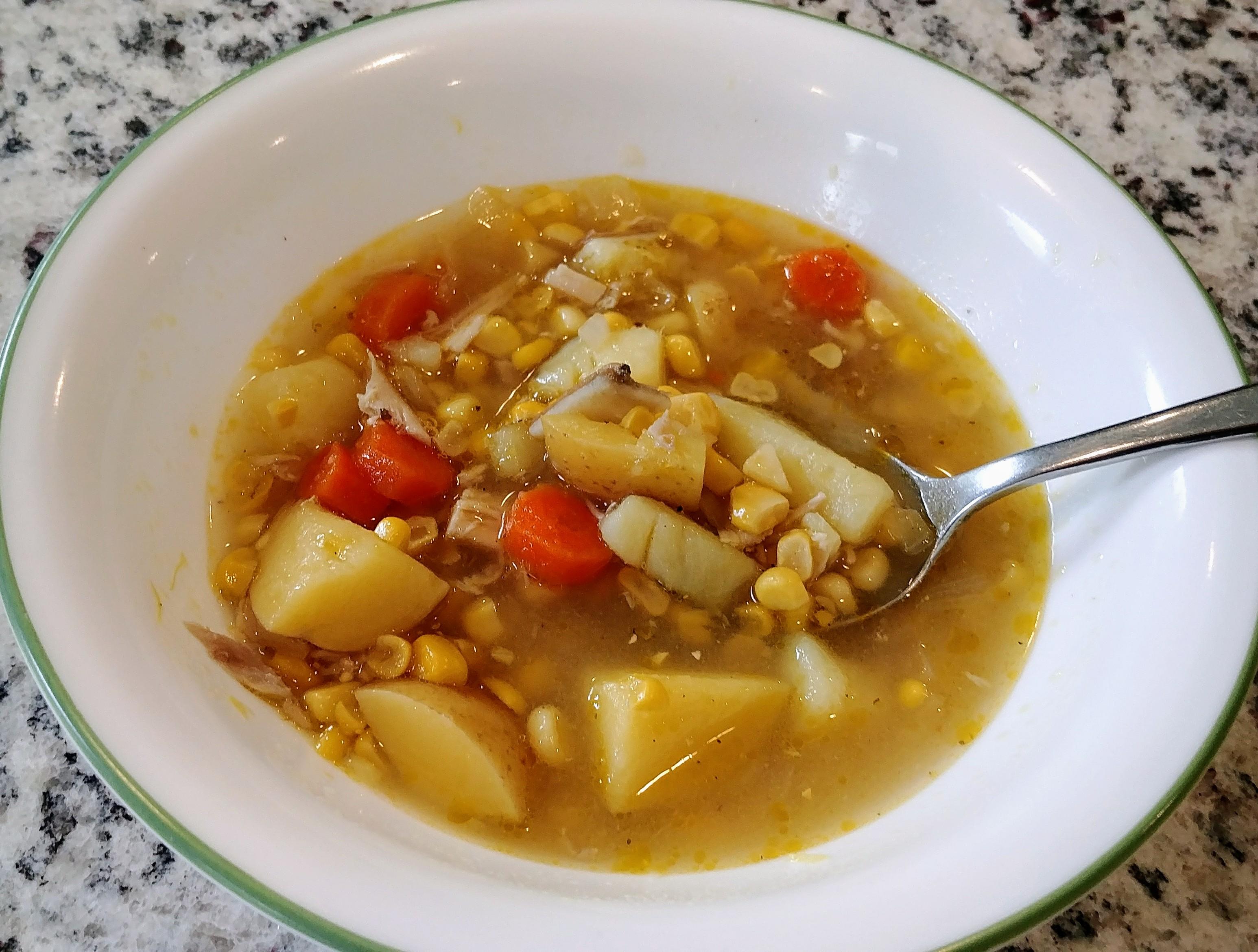 Fall Corn Rotisserie Chicken Soup
