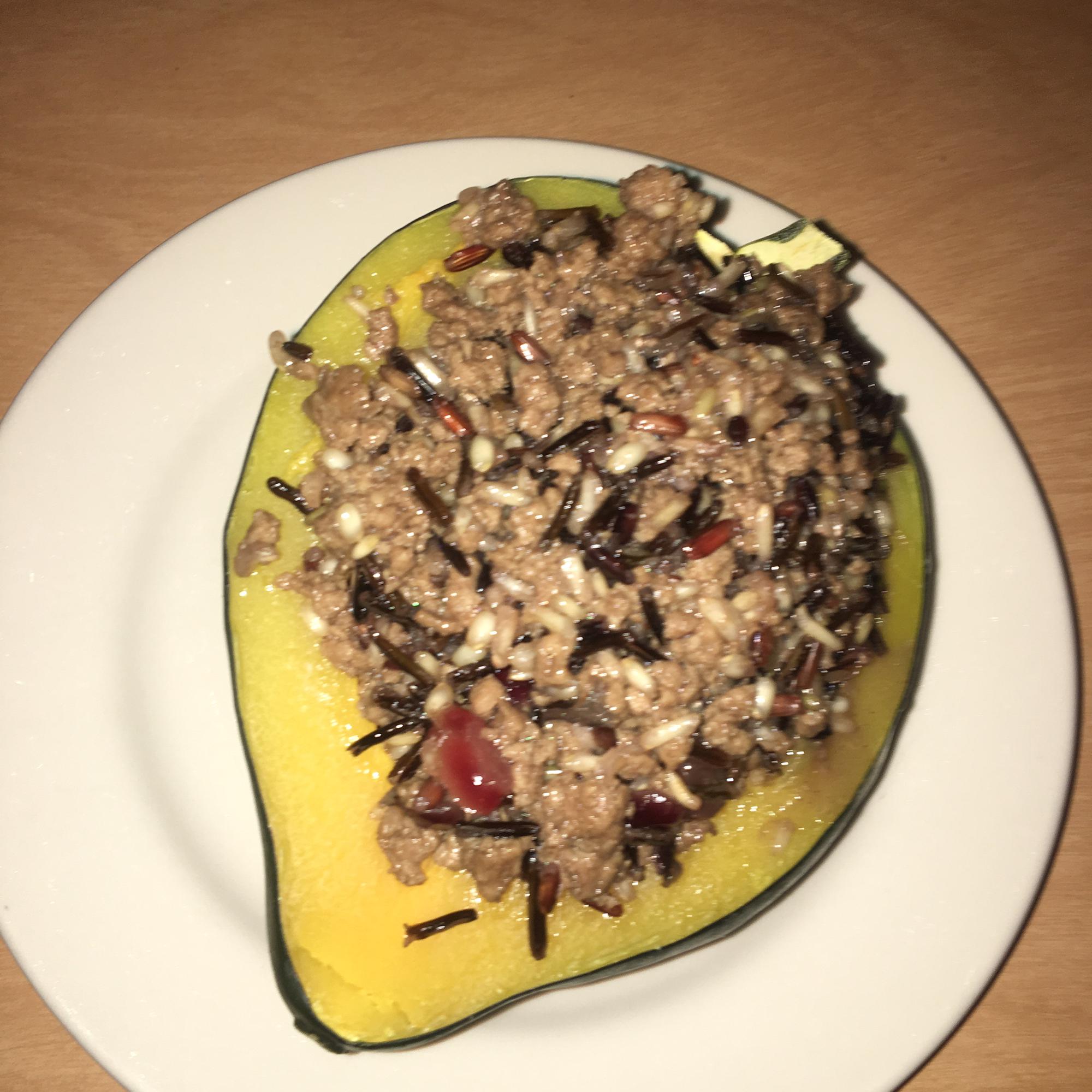 Venison and Wild Rice Stuffed Acorn Squash TaterTotsMom
