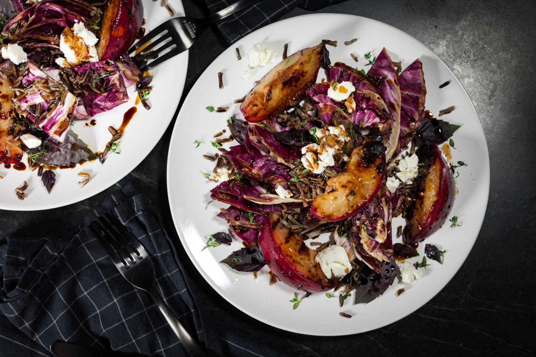 Grilled Radicchio and Plum Salad